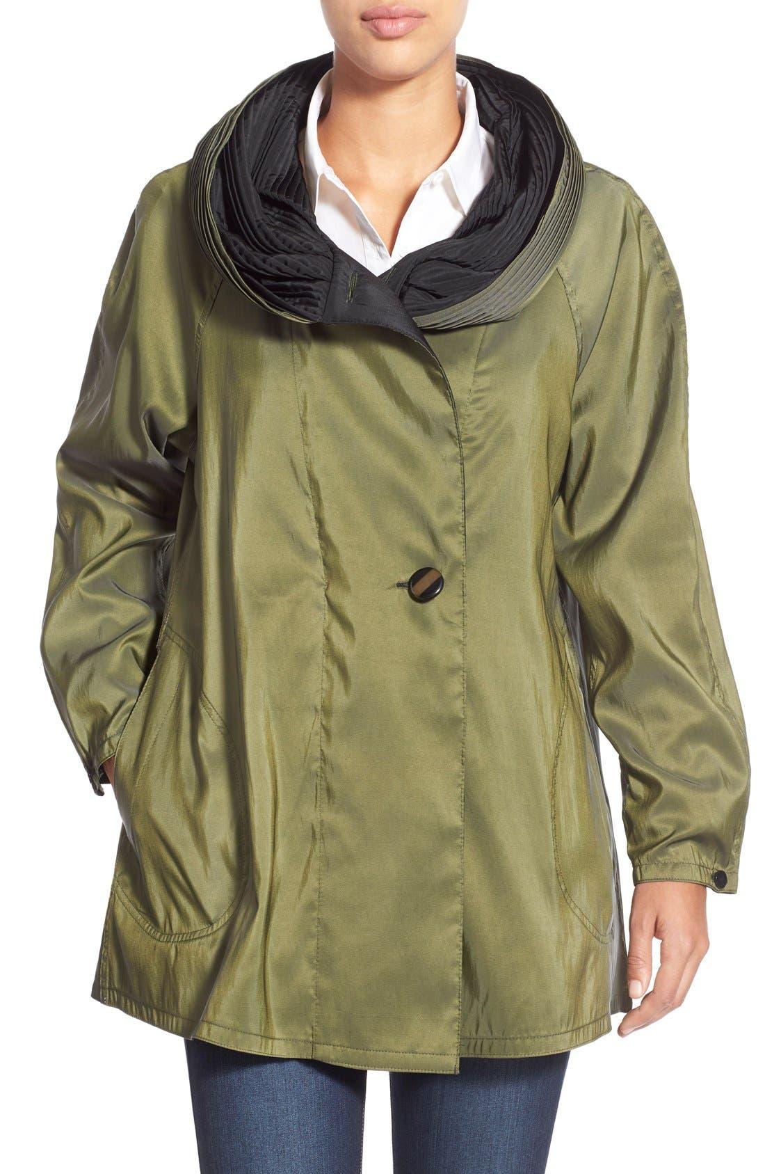 'Mini Donatella' Reversible Pleat Hood Packable Travel Coat,                             Main thumbnail 5, color,