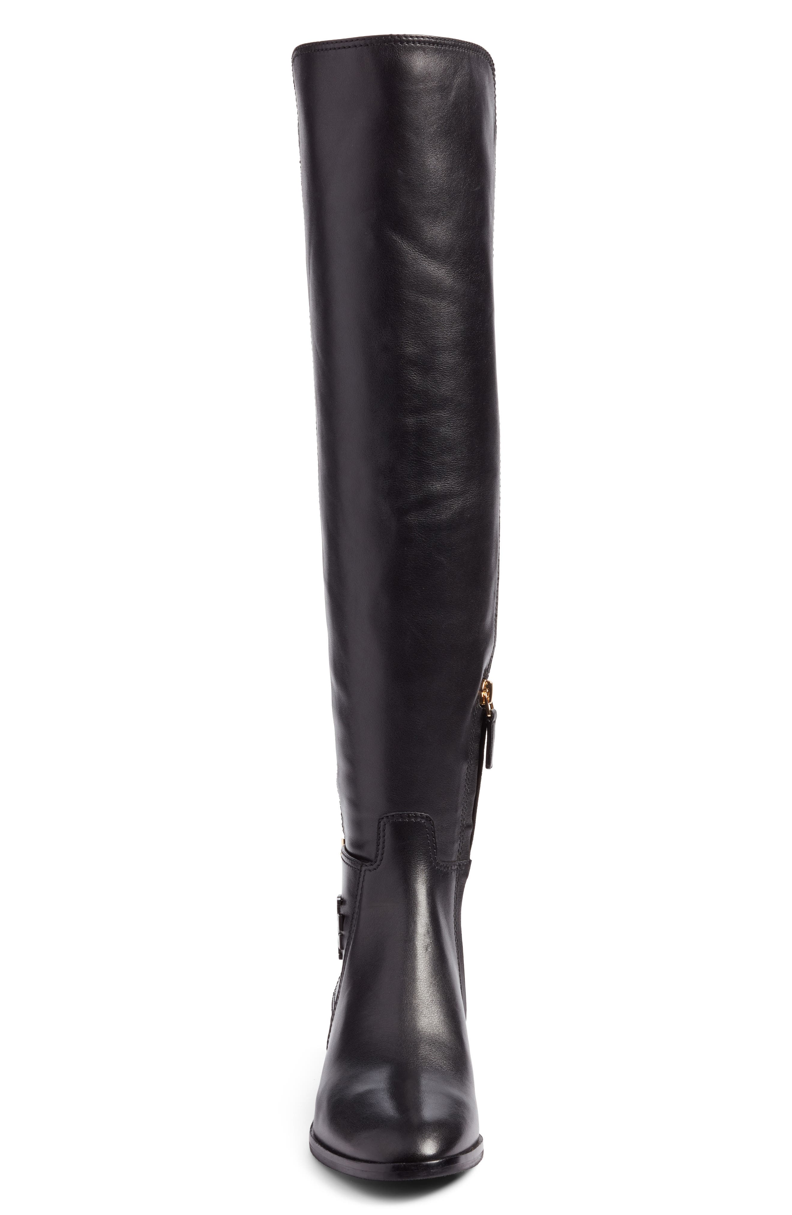 TORY BURCH,                             Wyatt Over the Knee Boot,                             Alternate thumbnail 4, color,                             001