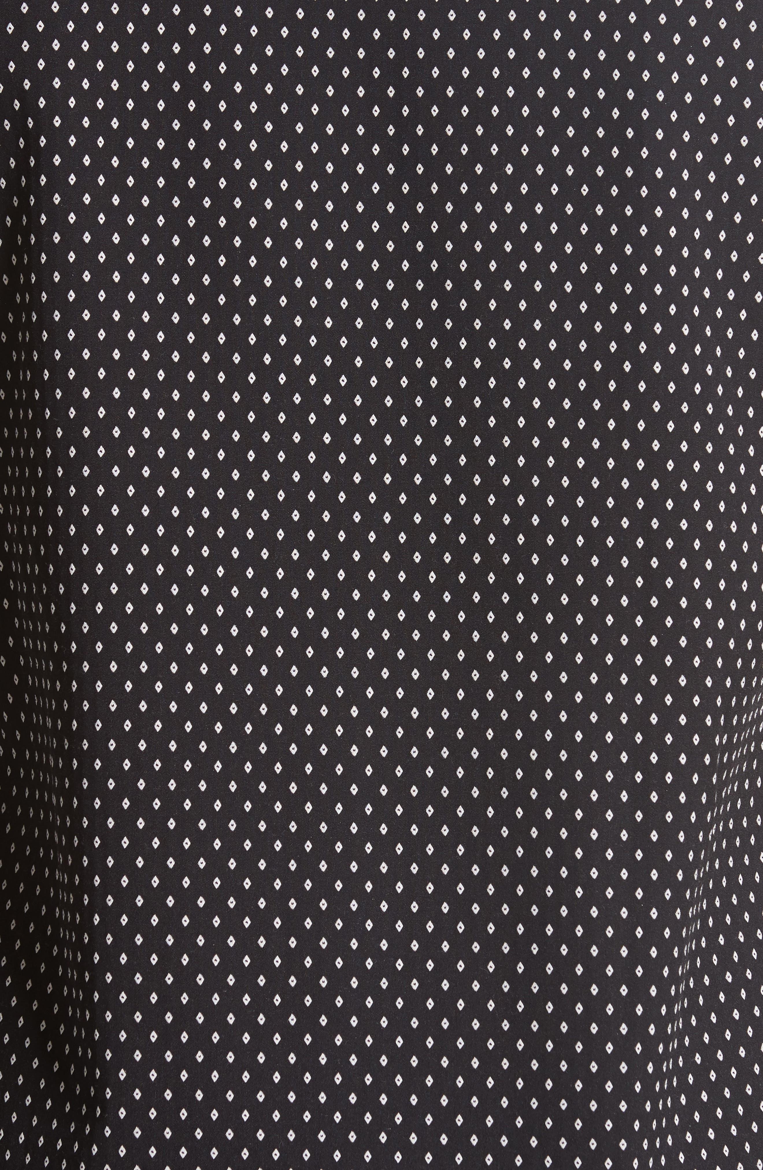 Jacquard Collar Stay Shirt,                             Alternate thumbnail 2, color,                             001