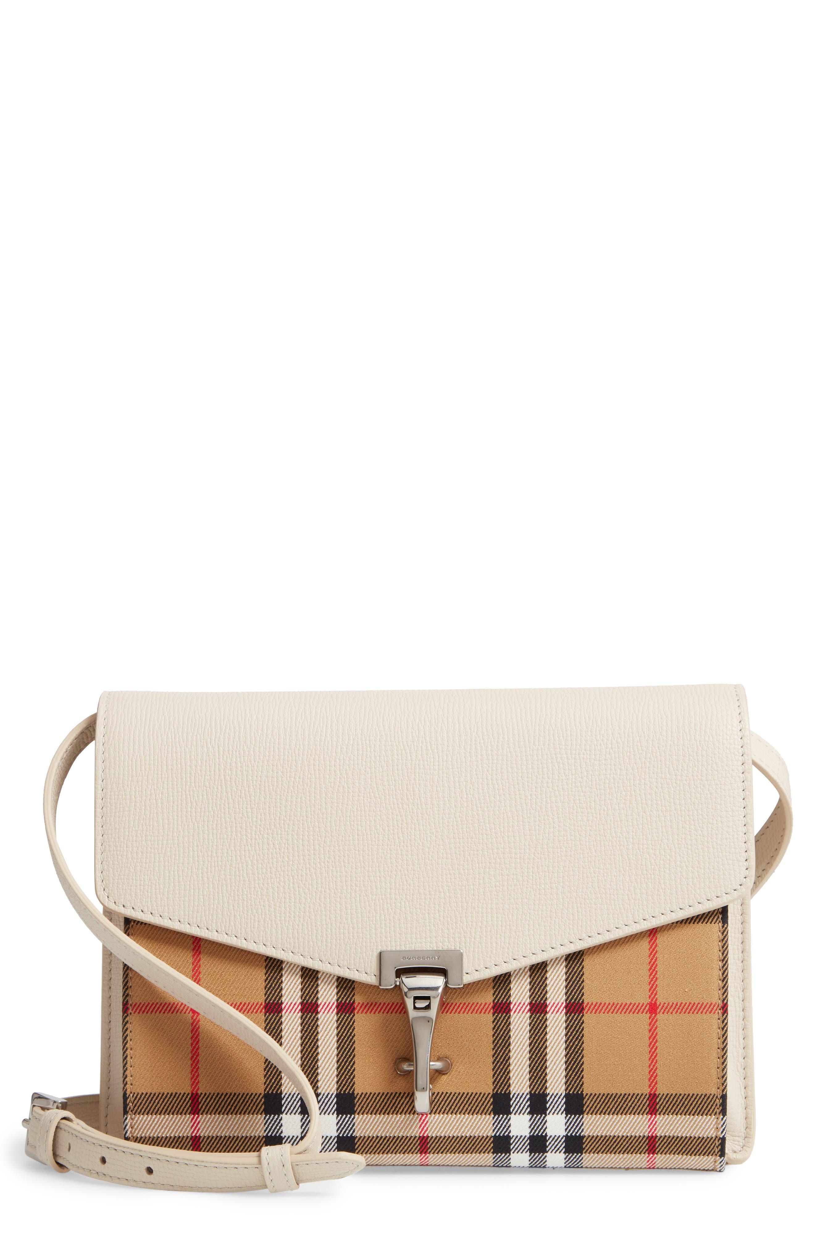 f678b0e48c77 Burberry Small Macken Vintage Check Crossbody Bag - Ivory