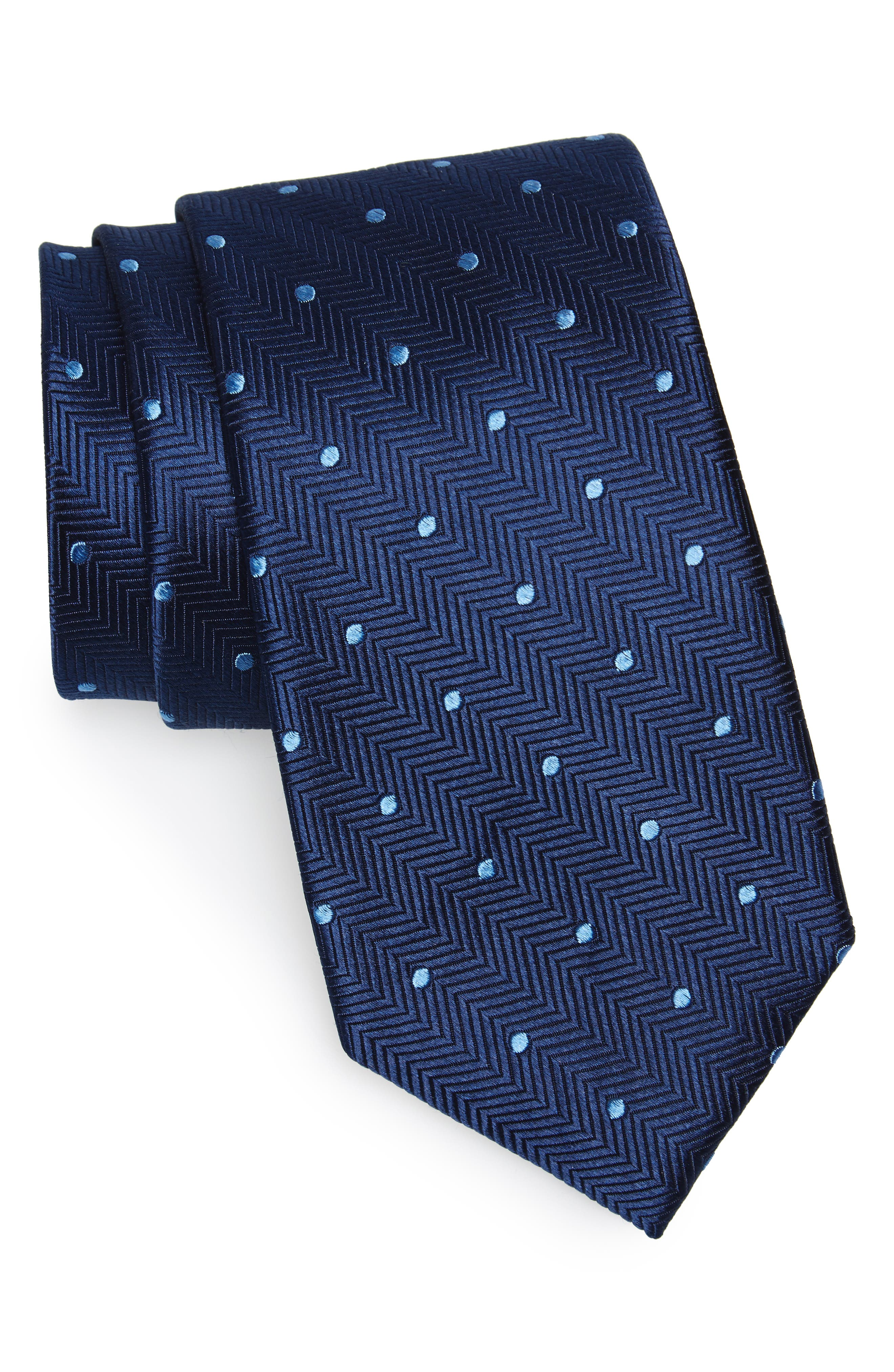Dapper Dot Silk Tie,                         Main,                         color, 410