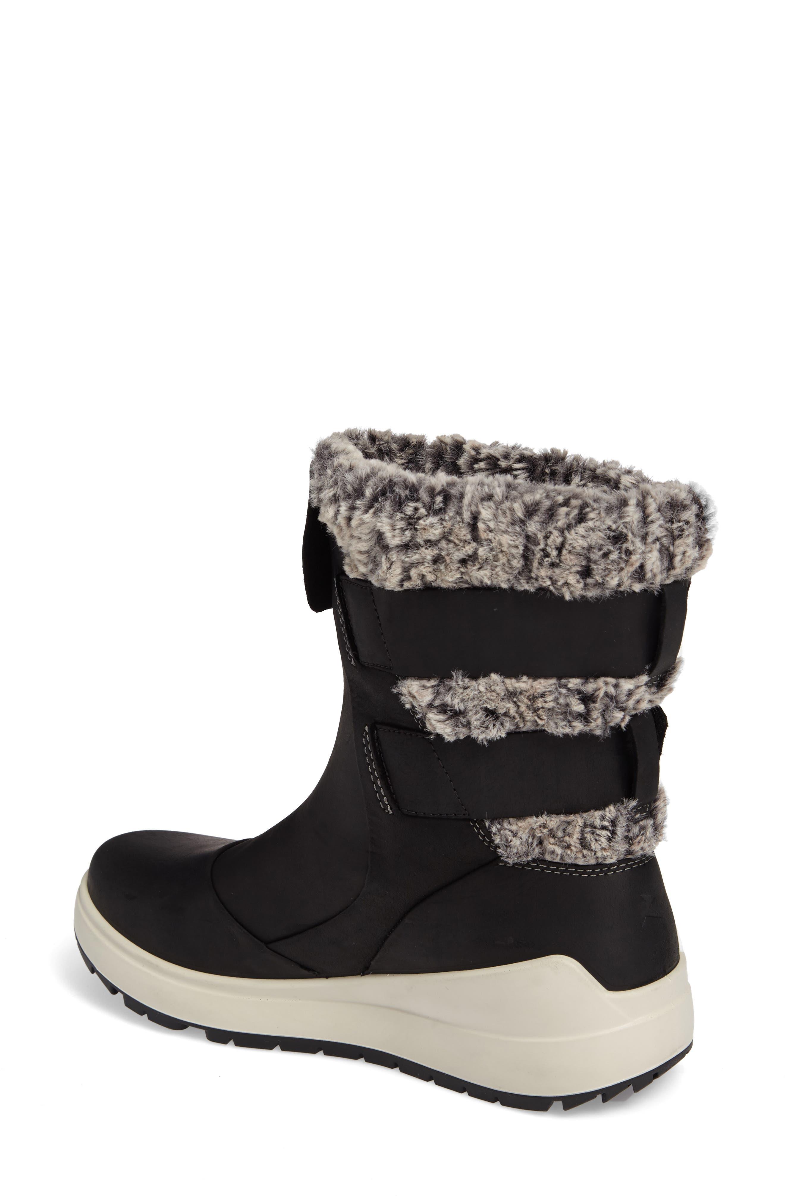 Noyce Water-Resistant Fleece Boot,                             Alternate thumbnail 2, color,                             001