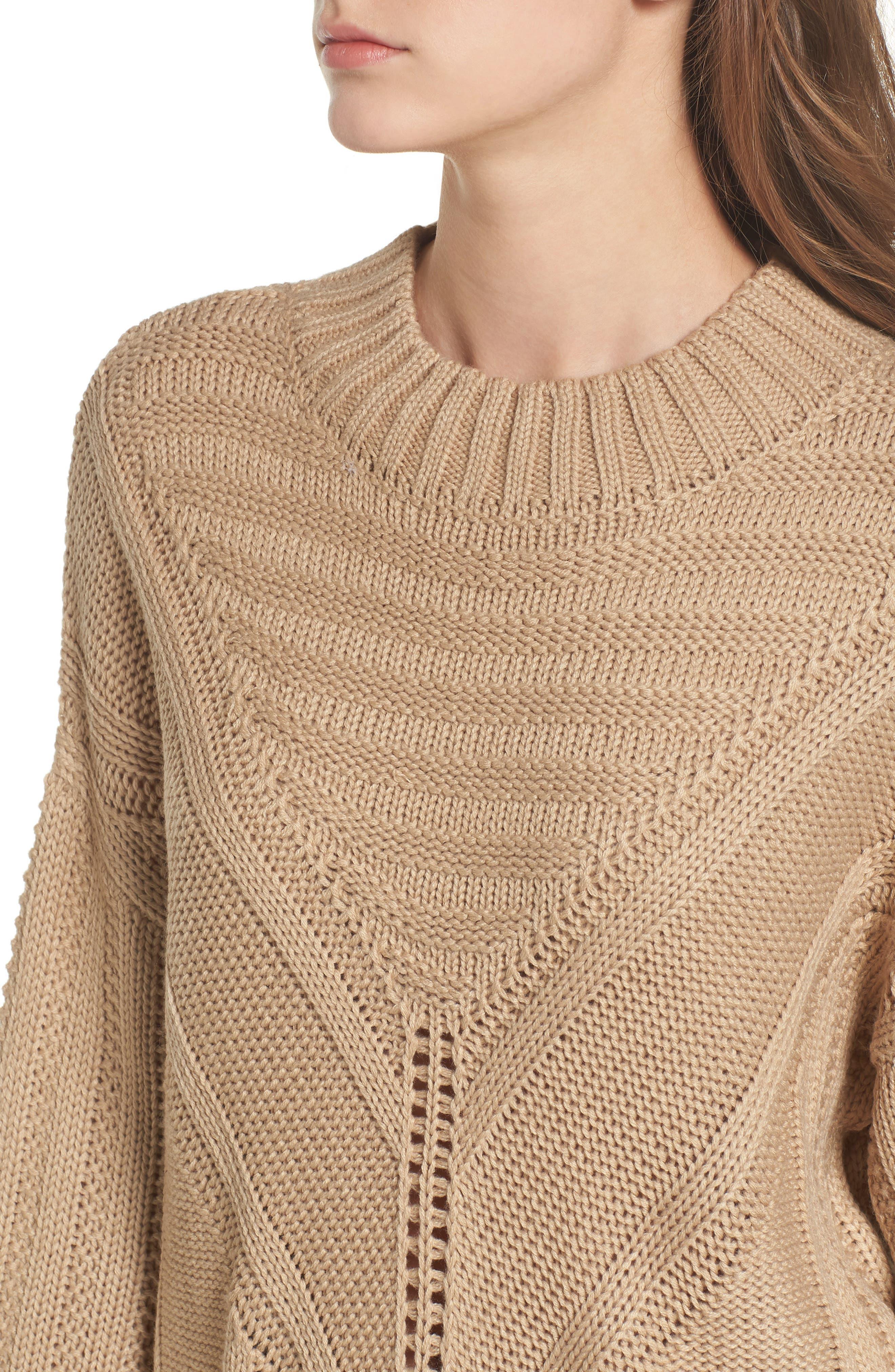 Oversize Drop Shoulder Sweater,                             Alternate thumbnail 4, color,                             250