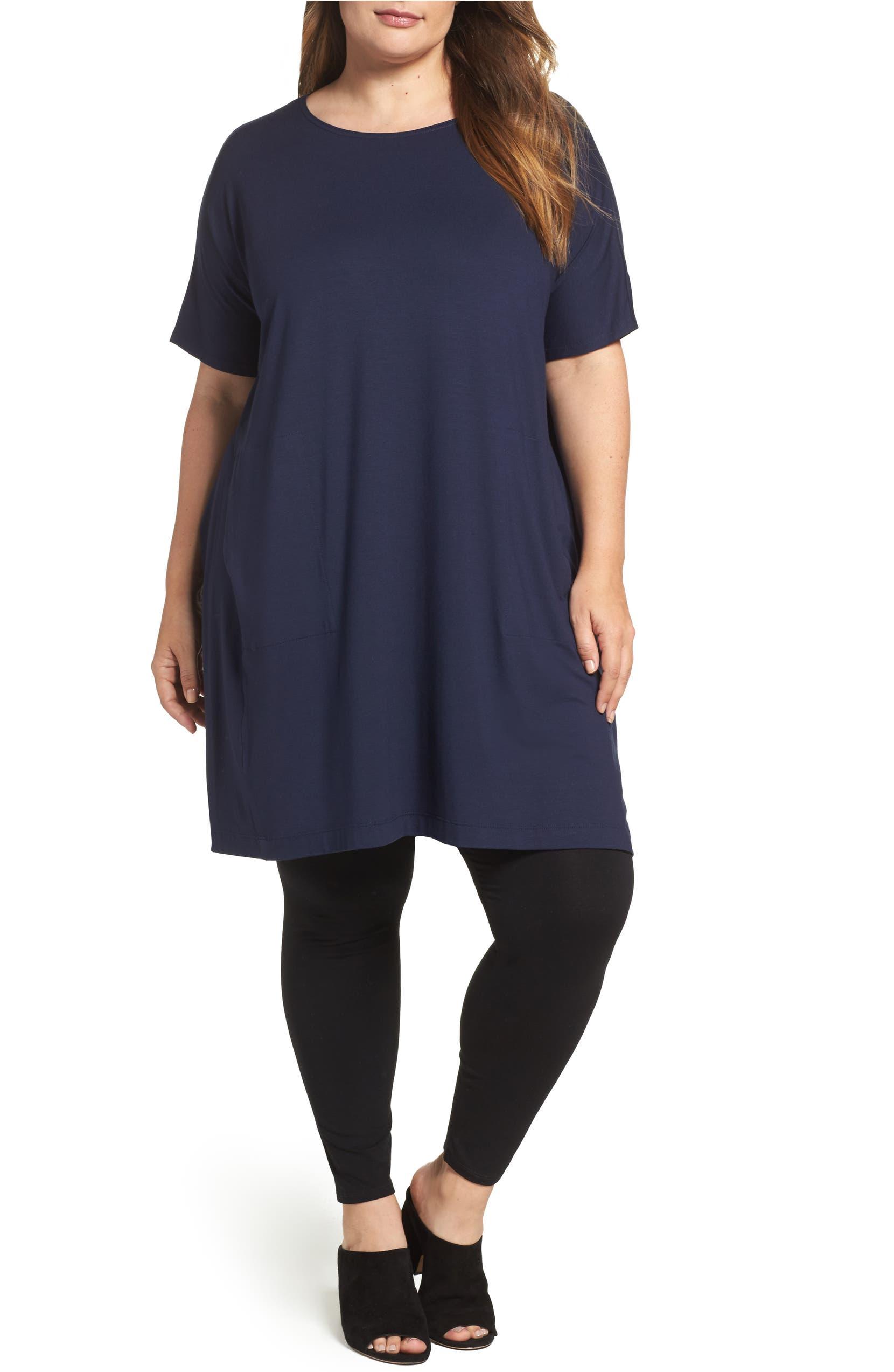 fe70d682b53fd Eileen Fisher Lightweight Jersey Tunic Dress (Plus Size)