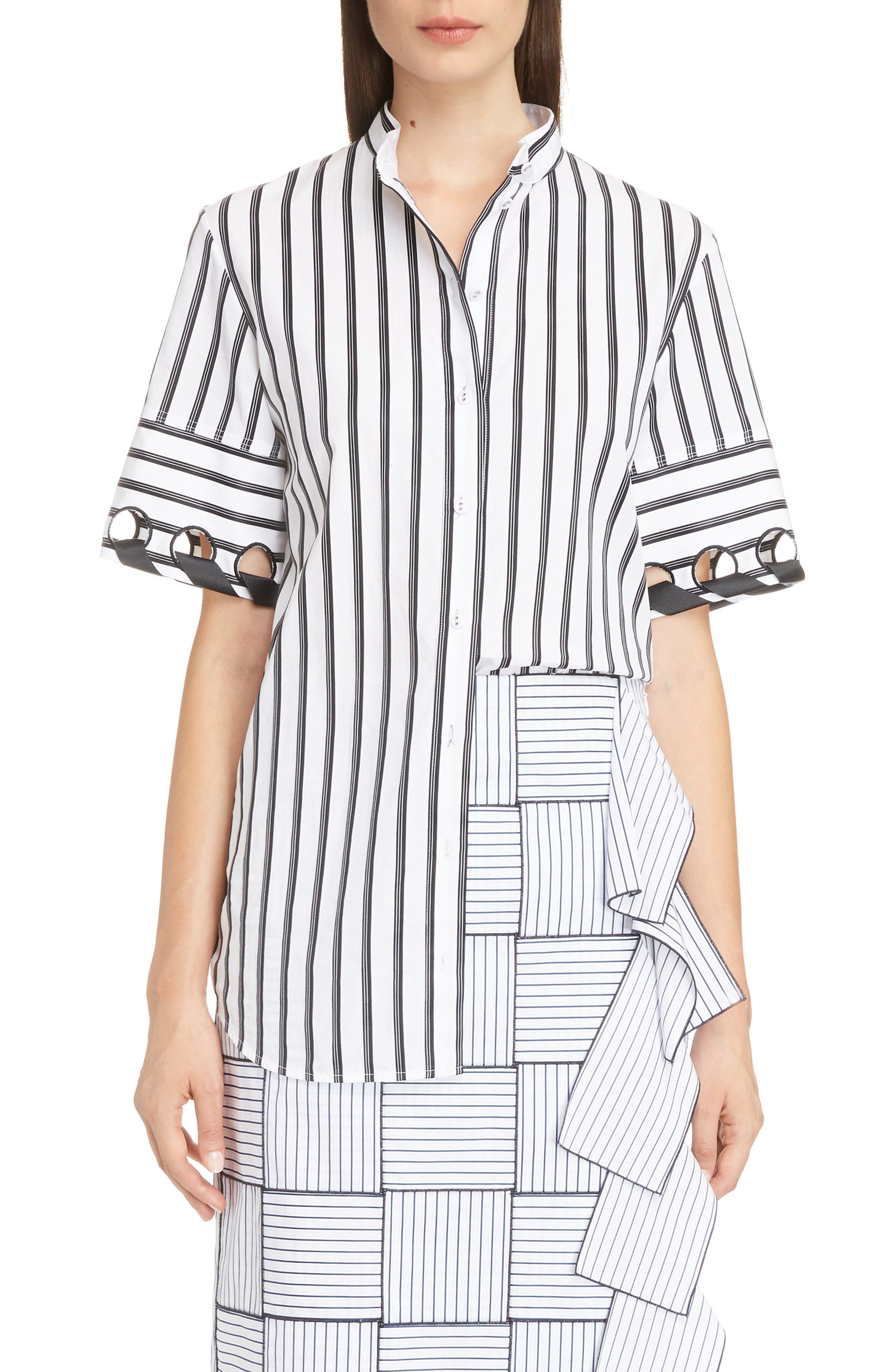 Laced Sleeve Shirt,                             Main thumbnail 1, color,                             103
