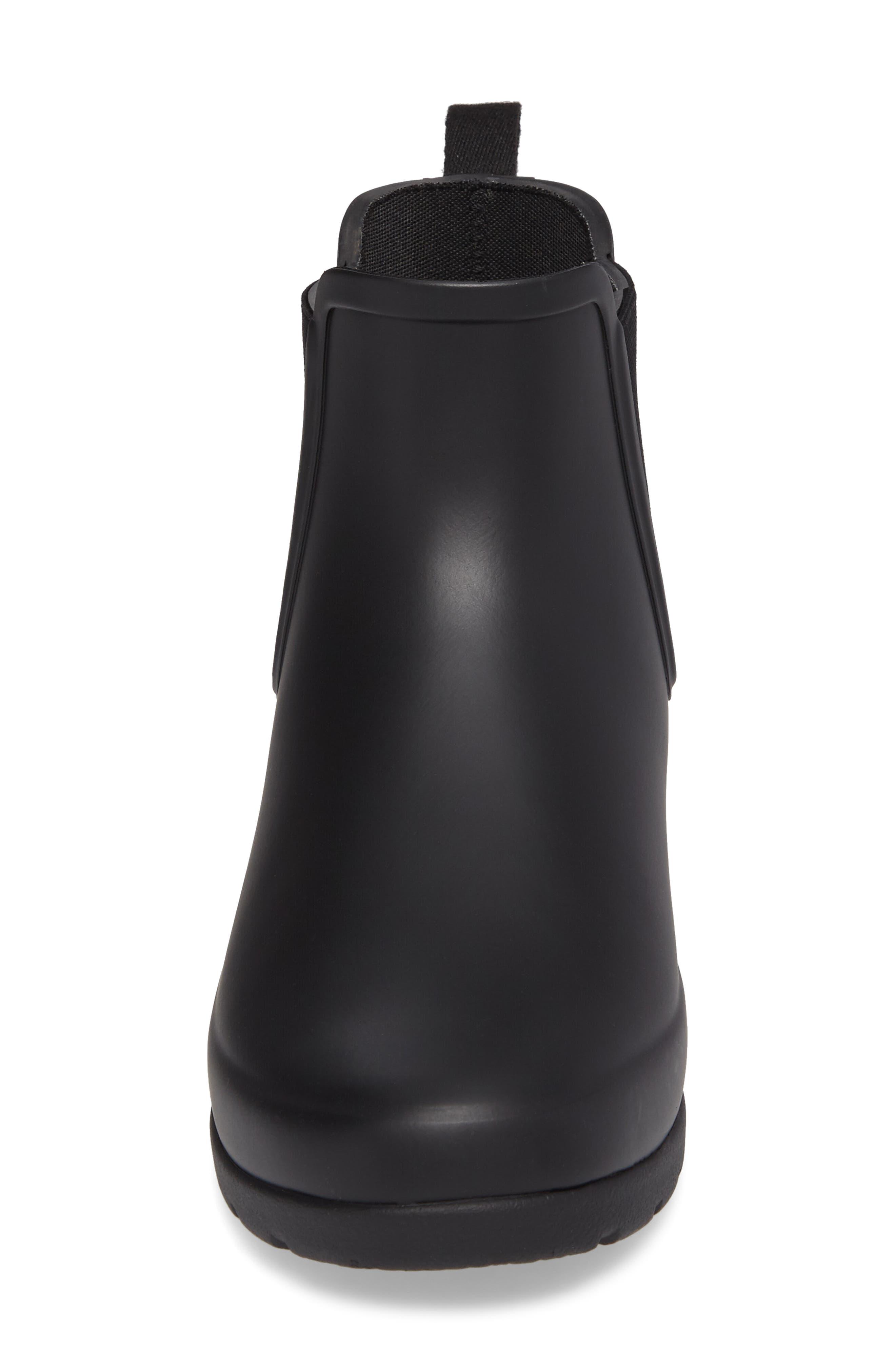 Refined Chelsea Boot,                             Alternate thumbnail 4, color,                             BLACK