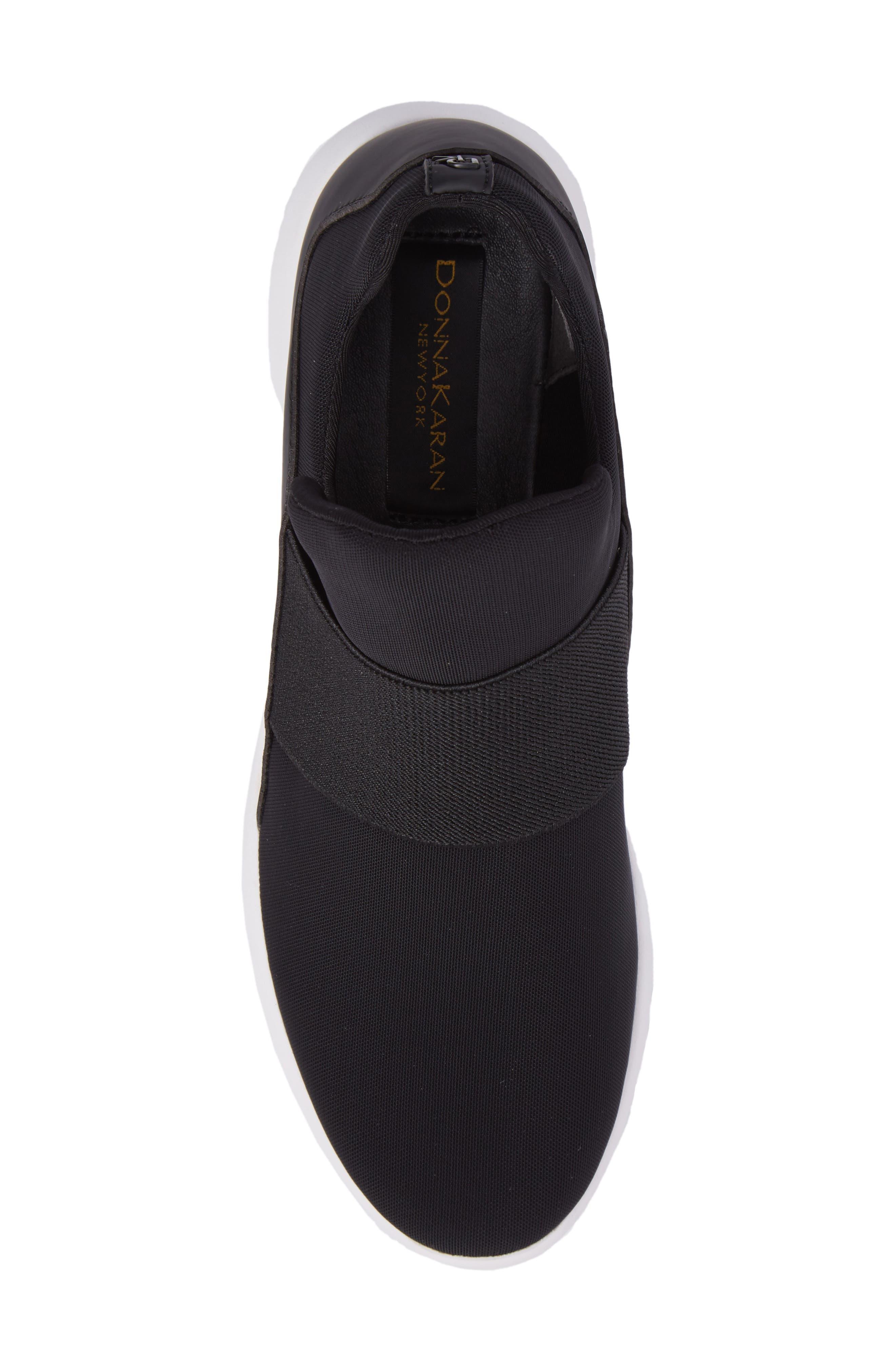 Donna Karan Cory Slip-On Sneaker,                             Alternate thumbnail 5, color,                             001