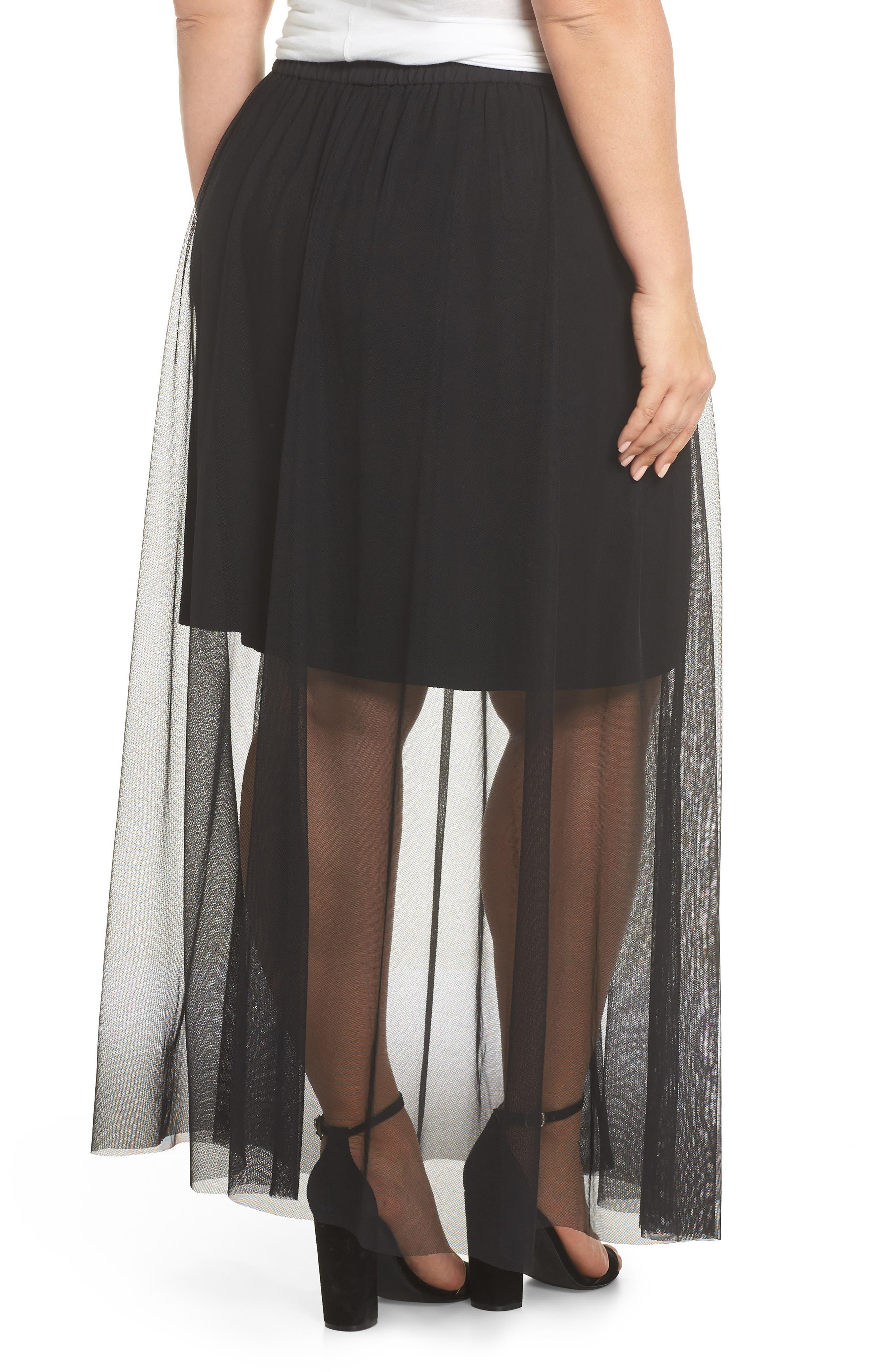 Side Tie Mesh Overlay Maxi Skirt,                             Alternate thumbnail 2, color,