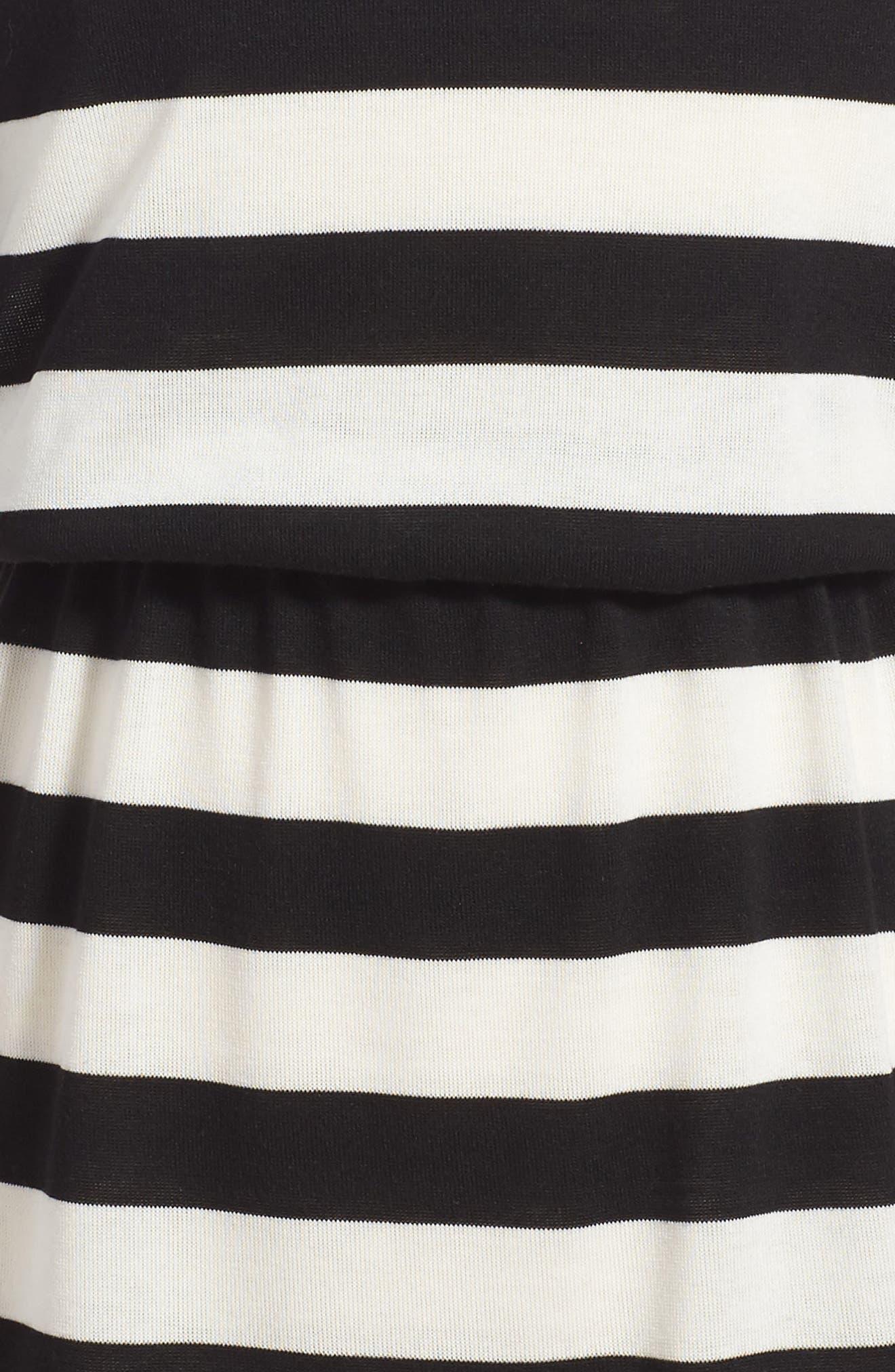 Stripe Knit Dress,                             Alternate thumbnail 3, color,                             100