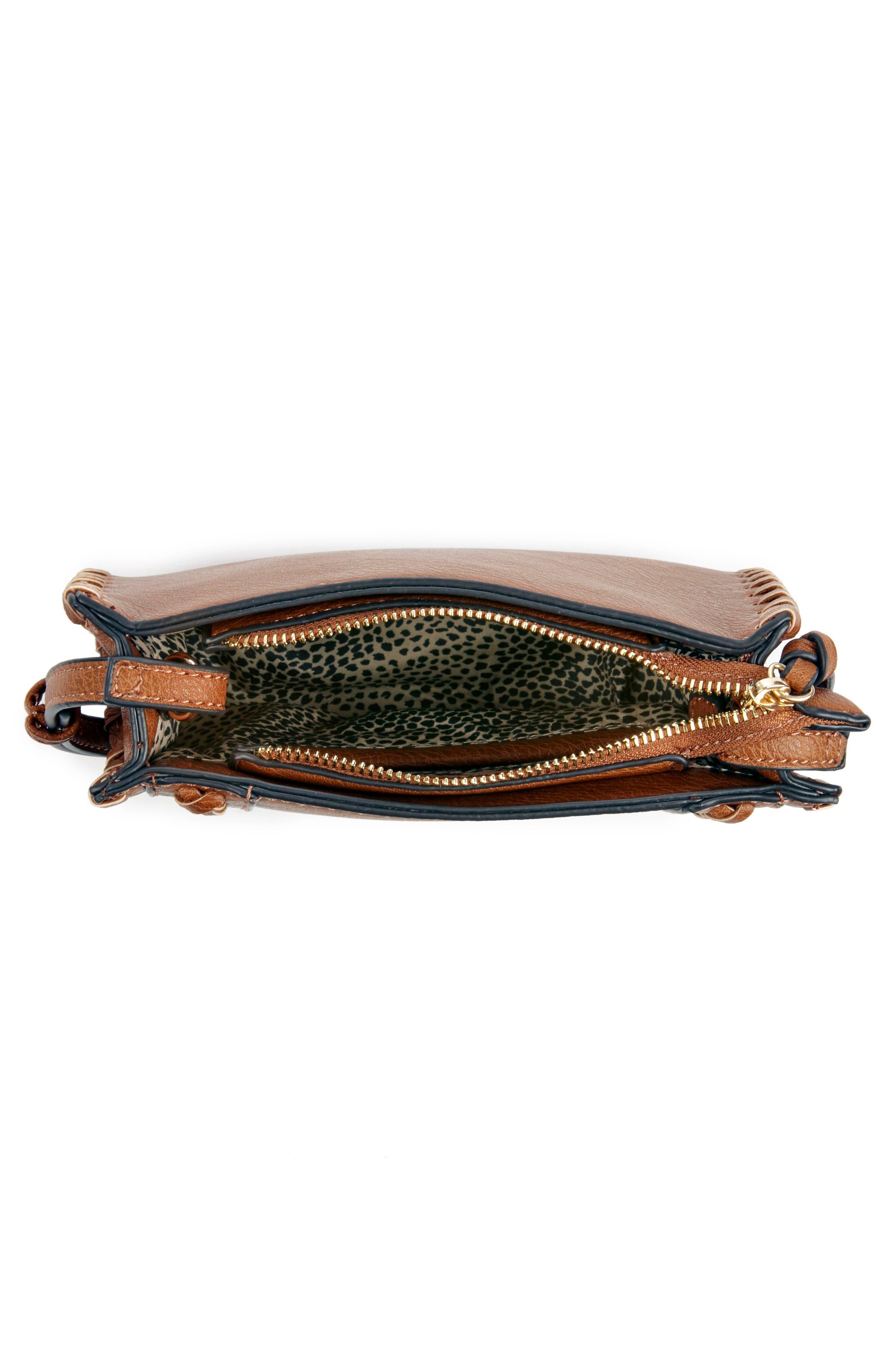 SOLE SOCIETY,                             Destin Faux Leather Crossbody Bag,                             Alternate thumbnail 3, color,                             230