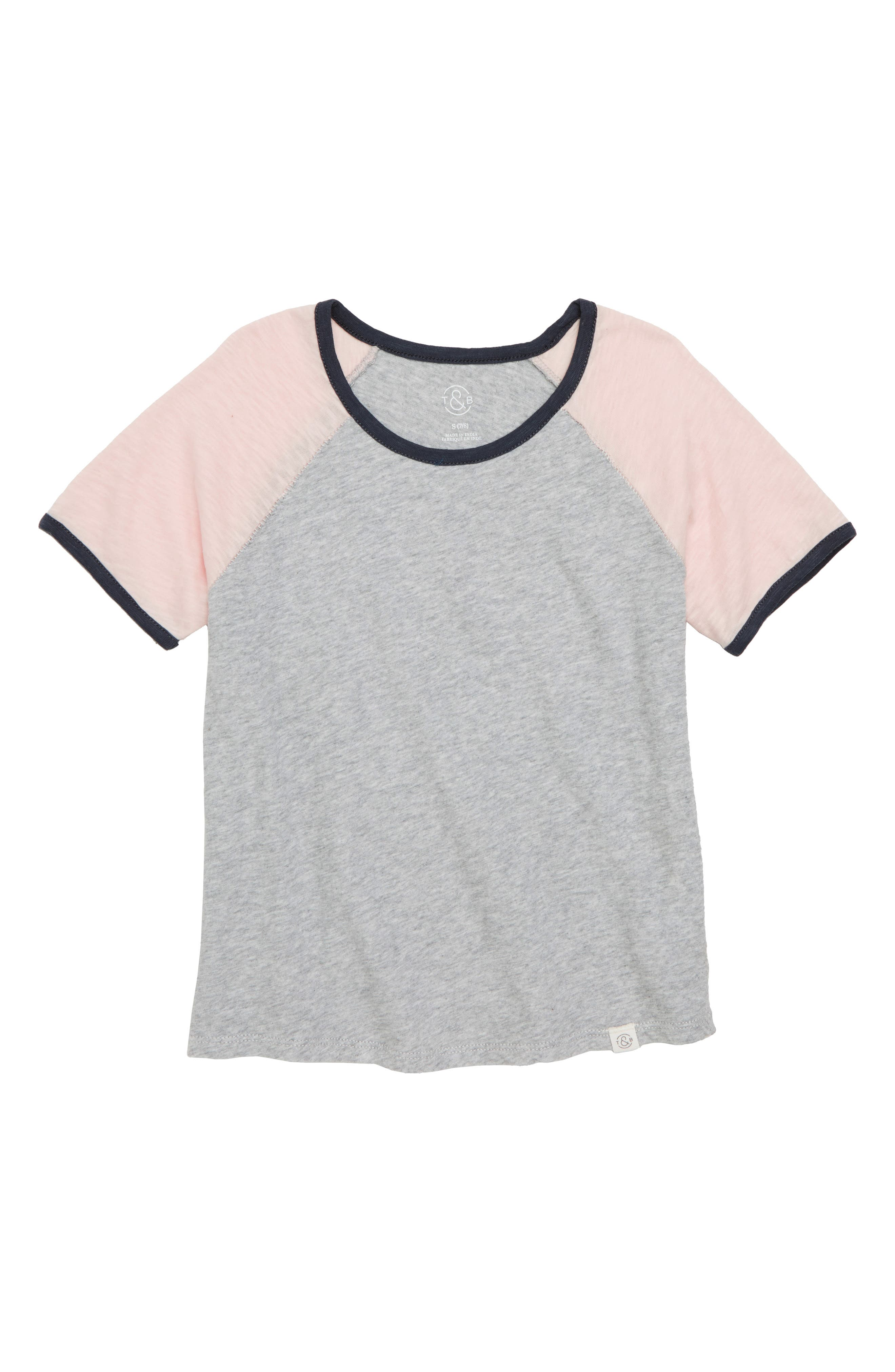 Colorblock Ringer Tee,                             Main thumbnail 1, color,                             050