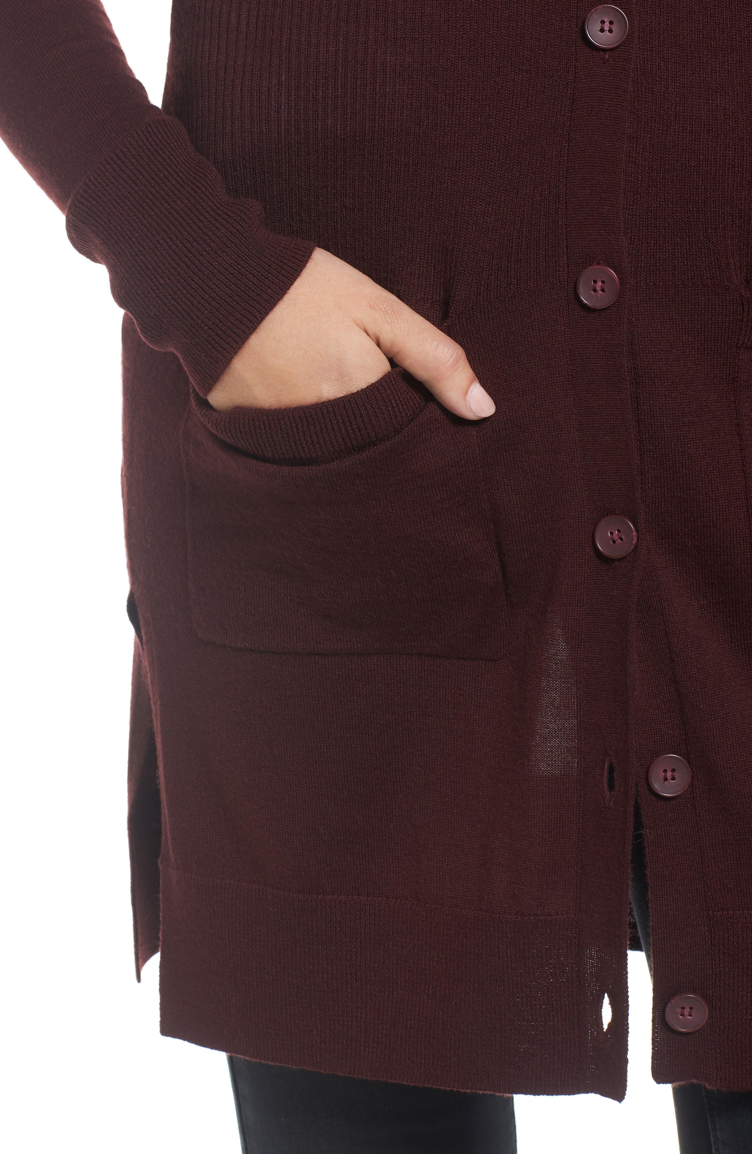 Rib Knit Wool Blend Cardigan,                             Alternate thumbnail 81, color,