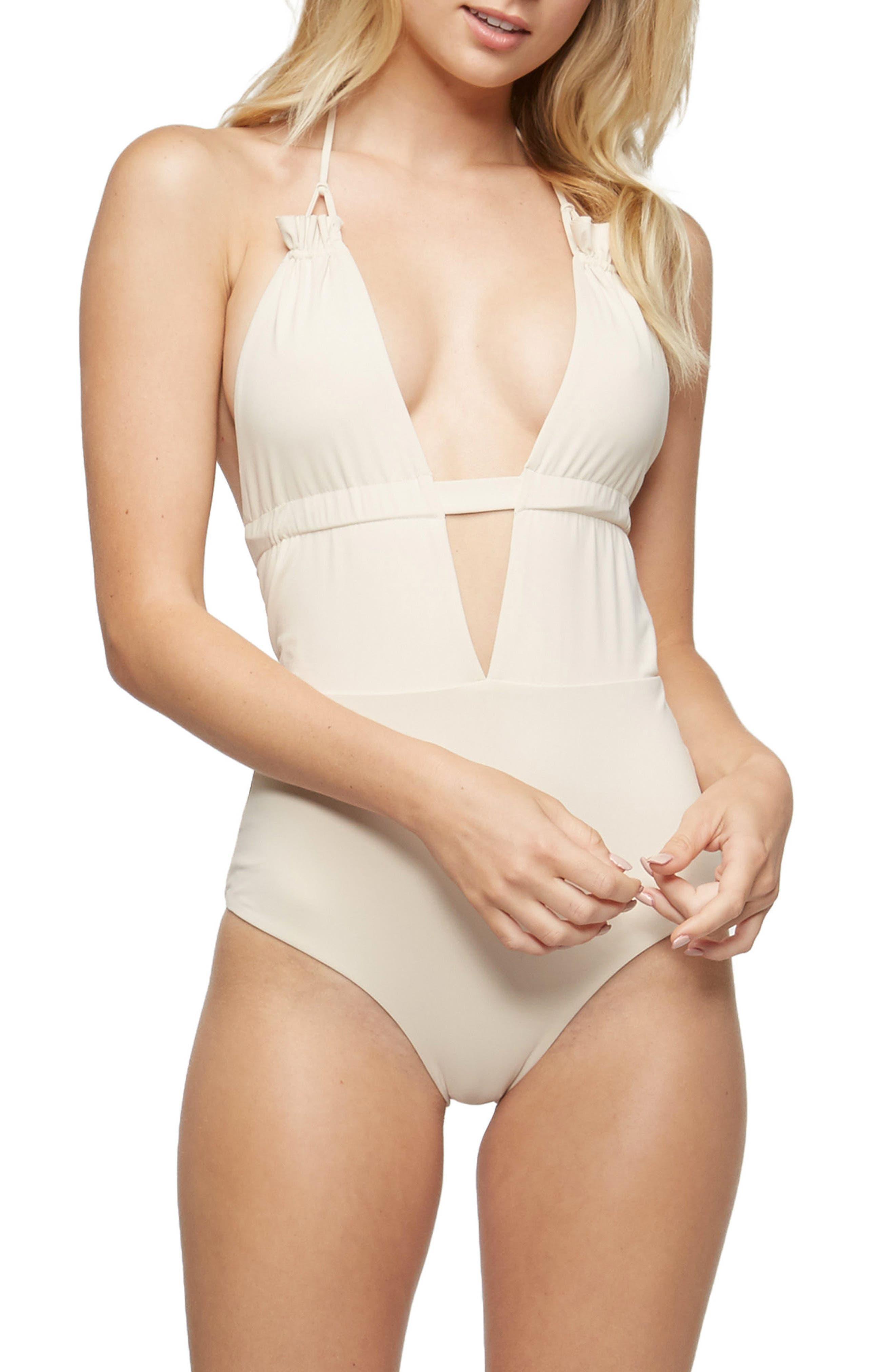 Emme Halter One-Piece Swimsuit,                         Main,                         color, 900