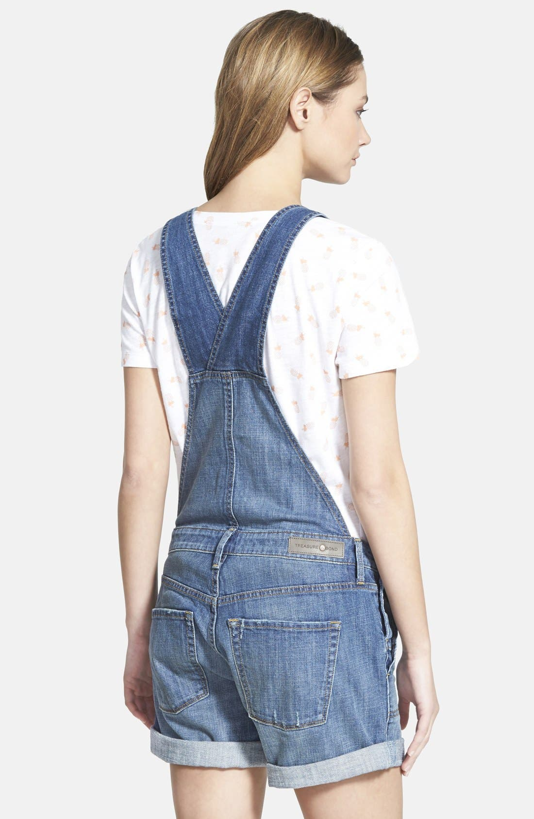 Treasure&Bond Short Overalls,                             Alternate thumbnail 2, color,                             400