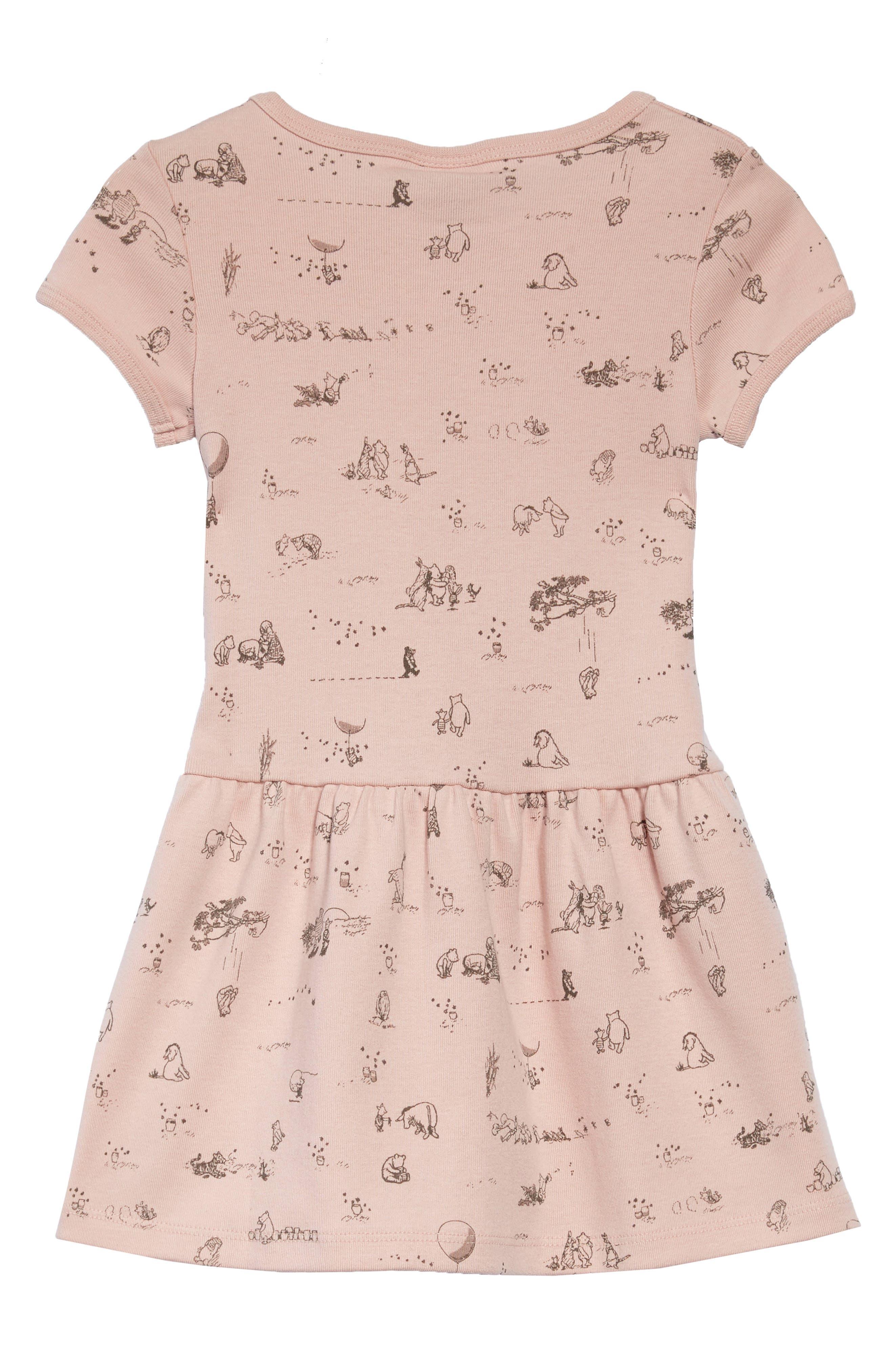 x Disney<sup>®</sup> Winnie the Pooh Print Dress,                             Alternate thumbnail 2, color,                             651