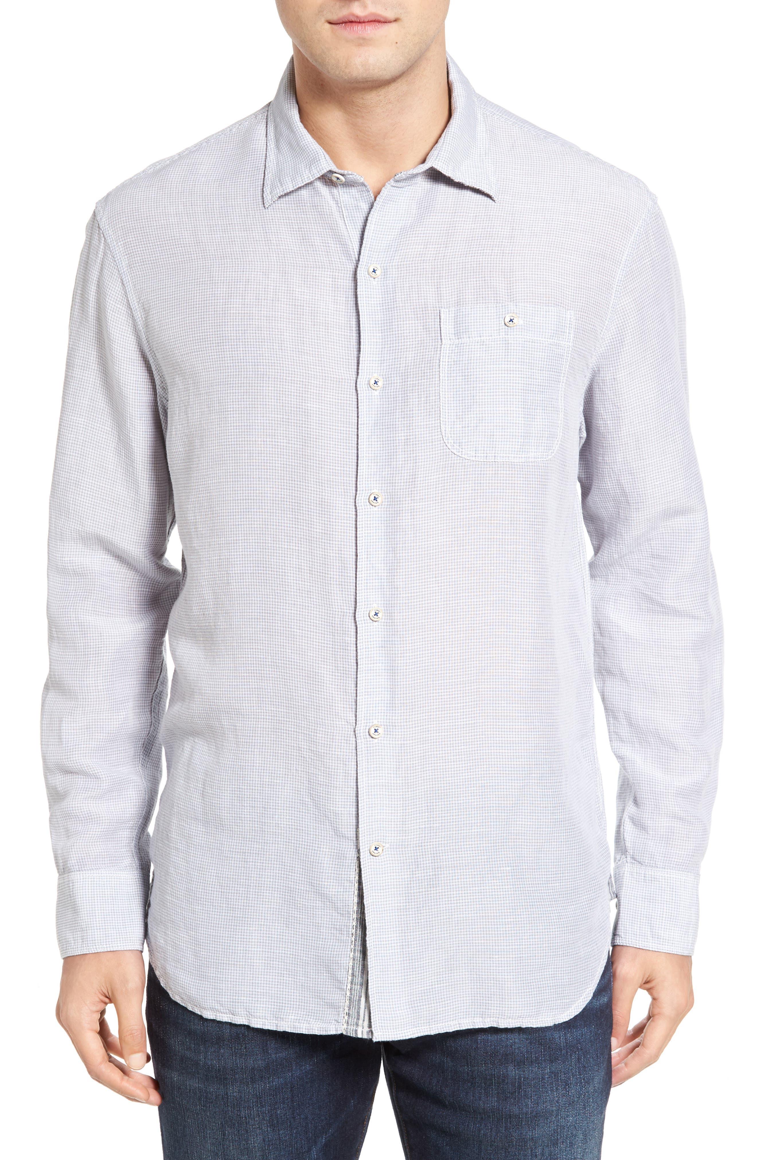 Sand Linen Island Modern Fit Sport Shirt,                             Main thumbnail 1, color,                             050