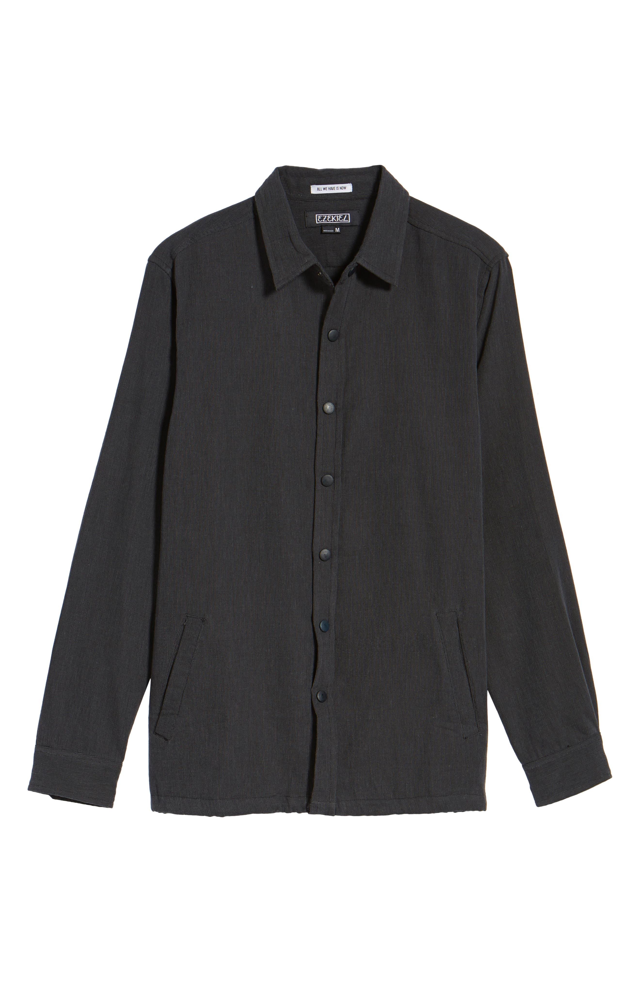 Textured Cotton Coach's Jacket,                             Alternate thumbnail 5, color,                             001