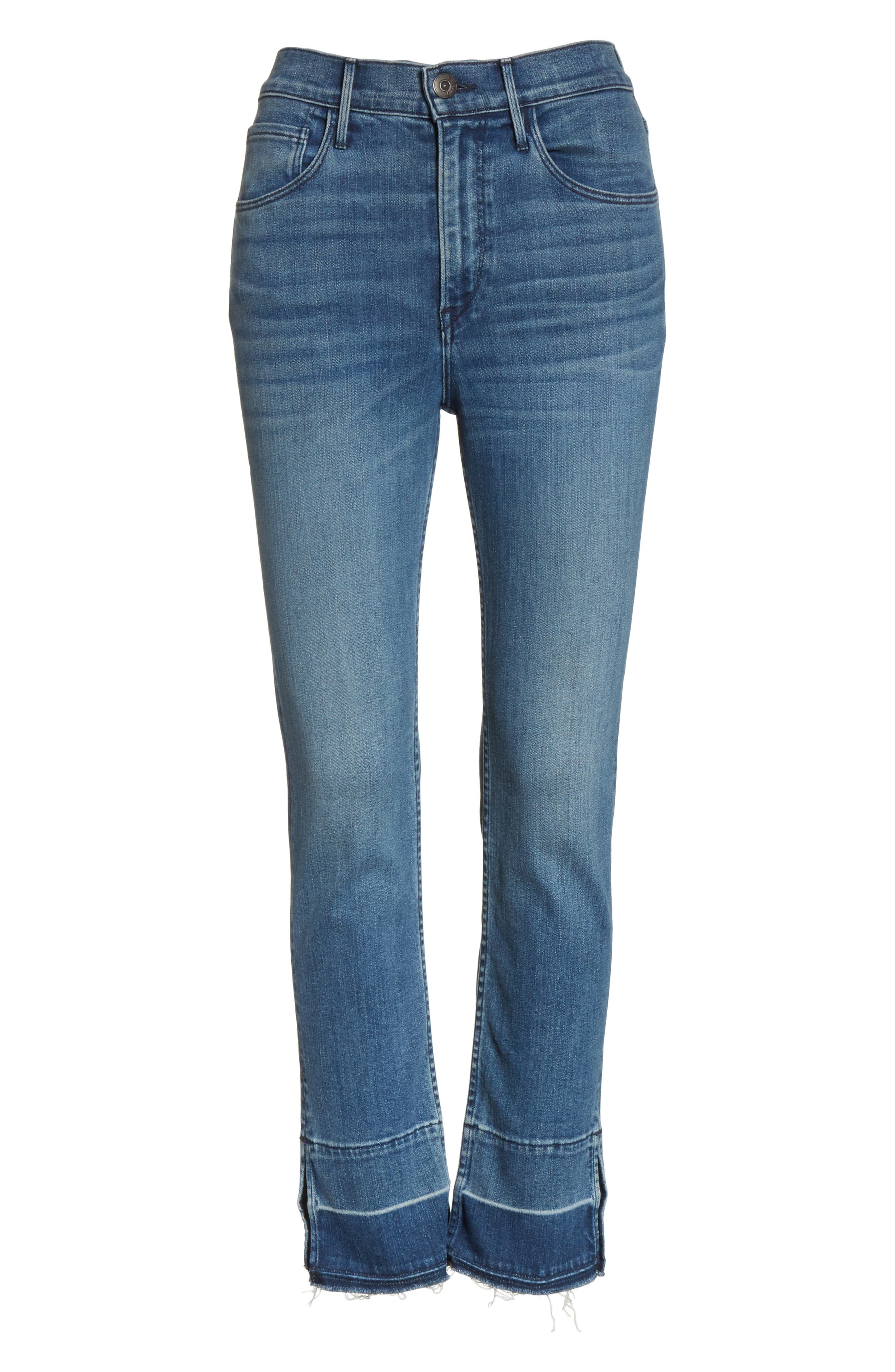 W4 Abigail Released Split Hem Ankle Skinny Jeans,                             Alternate thumbnail 6, color,                             427