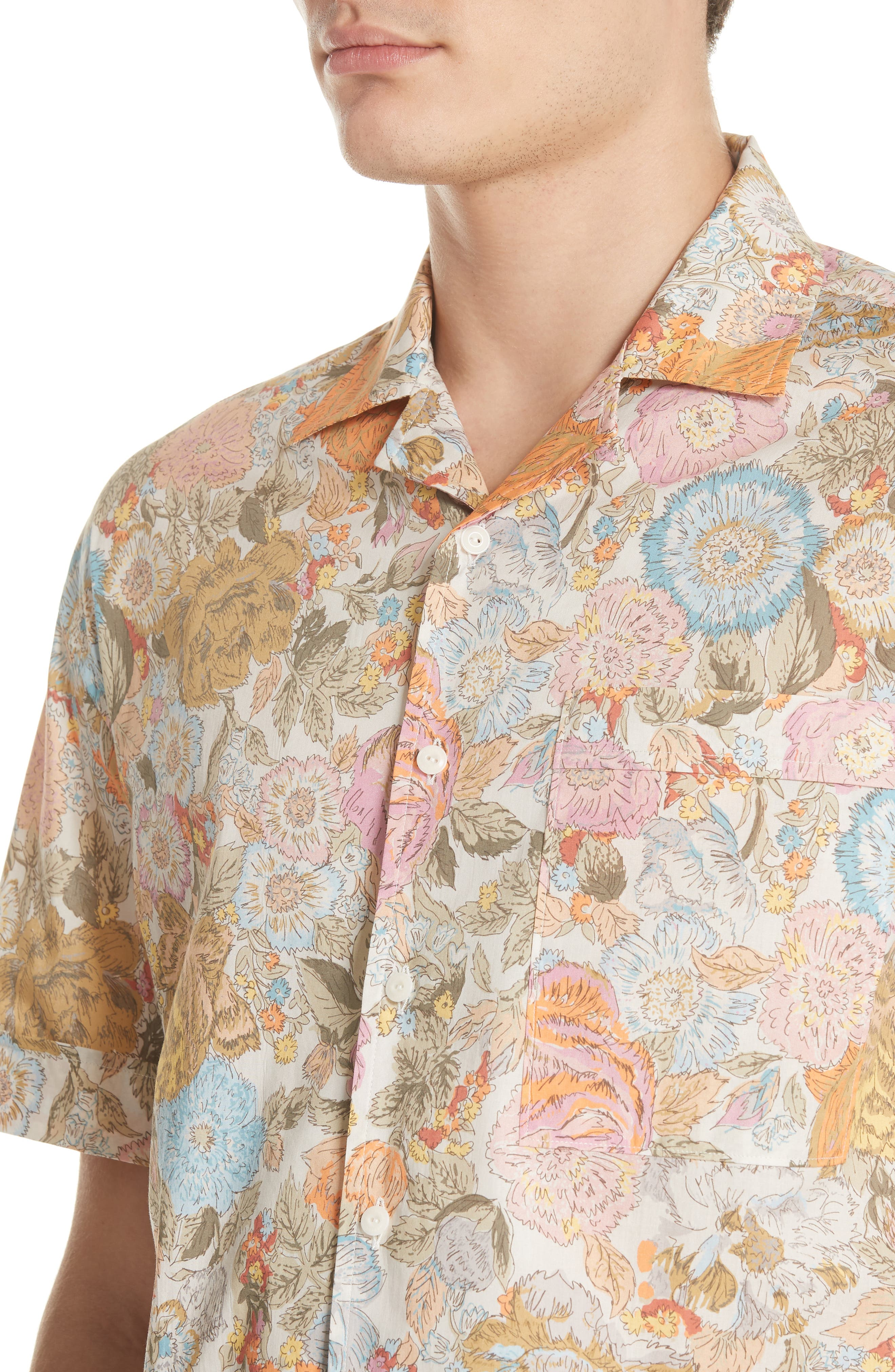 Harley Floral Print Shirt,                             Alternate thumbnail 4, color,