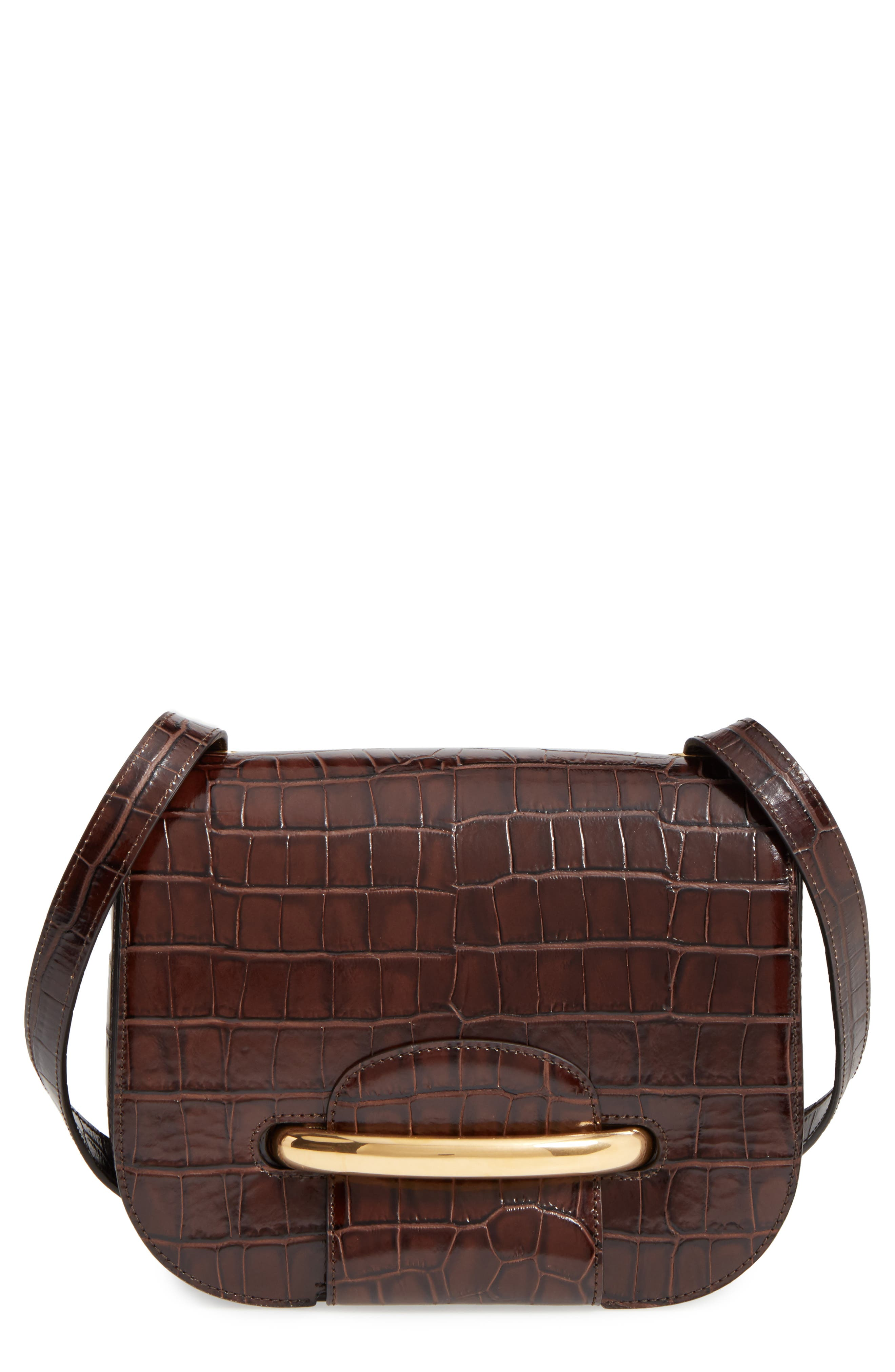 MULBERRY Selwood Leather Saddle Bag, Main, color, 200