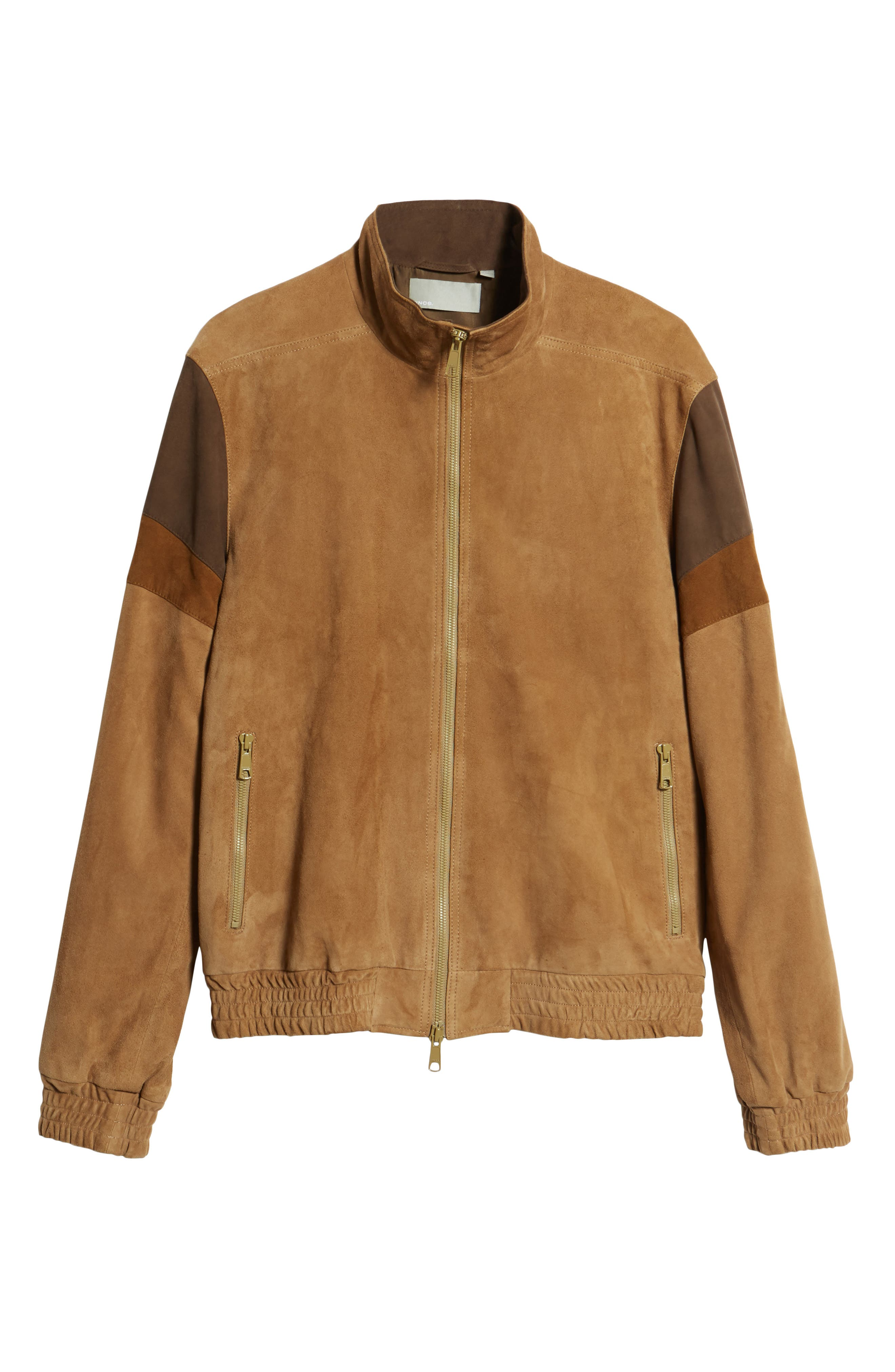 Colorblock Leather Track Jacket,                             Alternate thumbnail 5, color,                             250