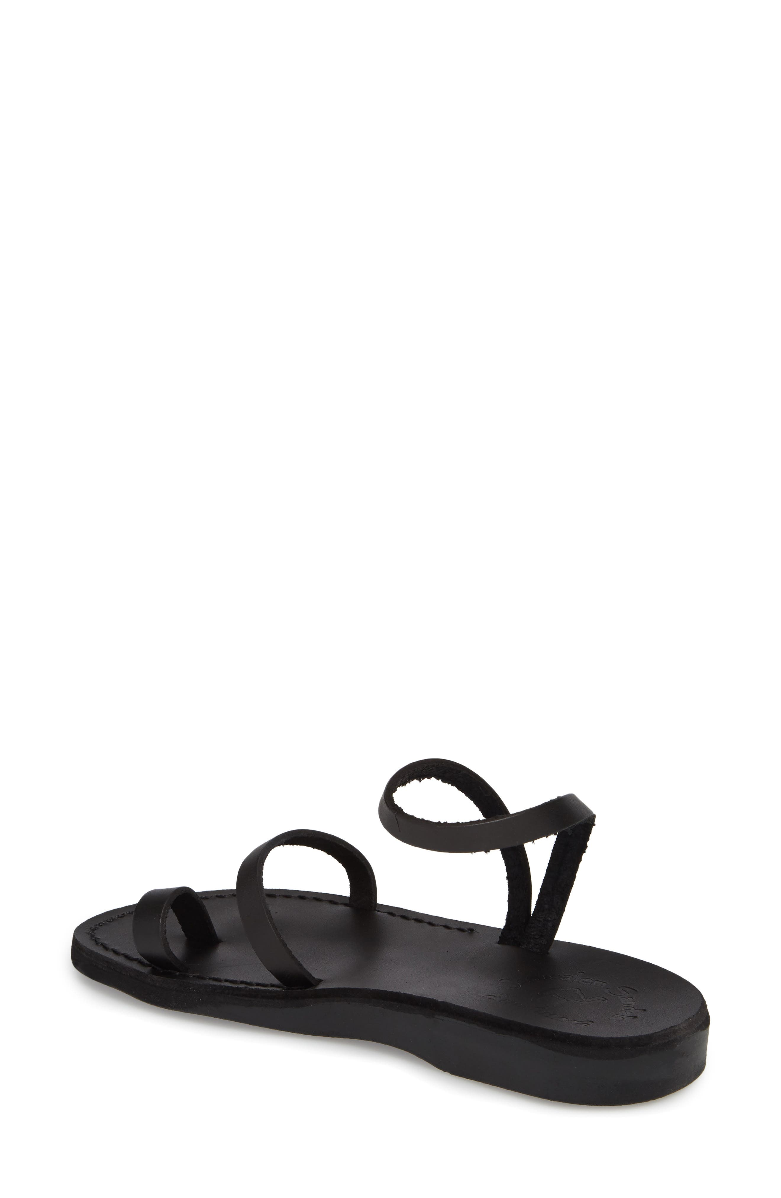 Ella Sandal,                             Alternate thumbnail 2, color,                             BLACK LEATHER