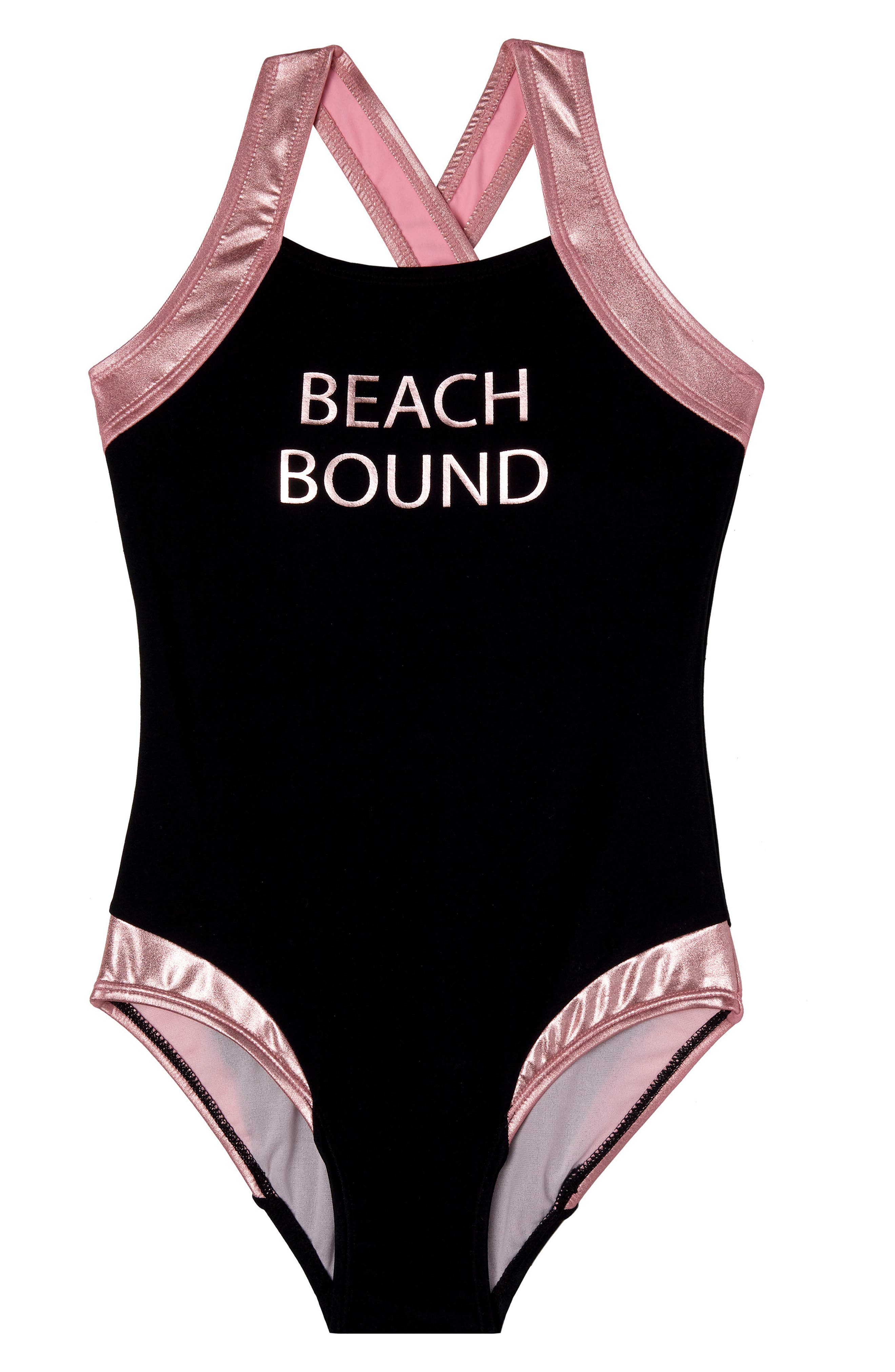 Beach Bound One-Piece Swimsuit,                             Main thumbnail 1, color,                             001