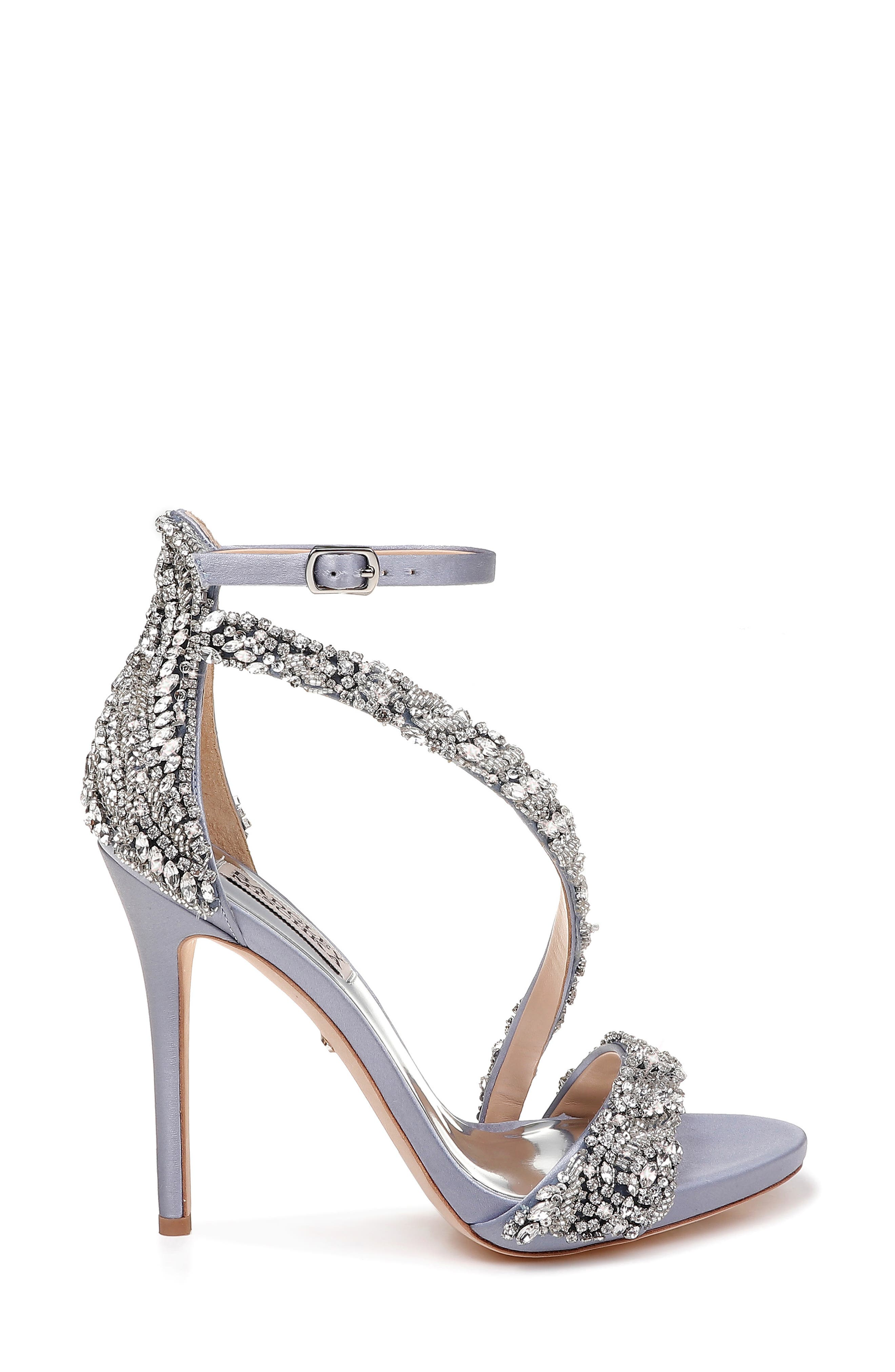 Badgley Mischka Venice Crystal Embellished Strappy Sandal,                             Alternate thumbnail 3, color,                             459