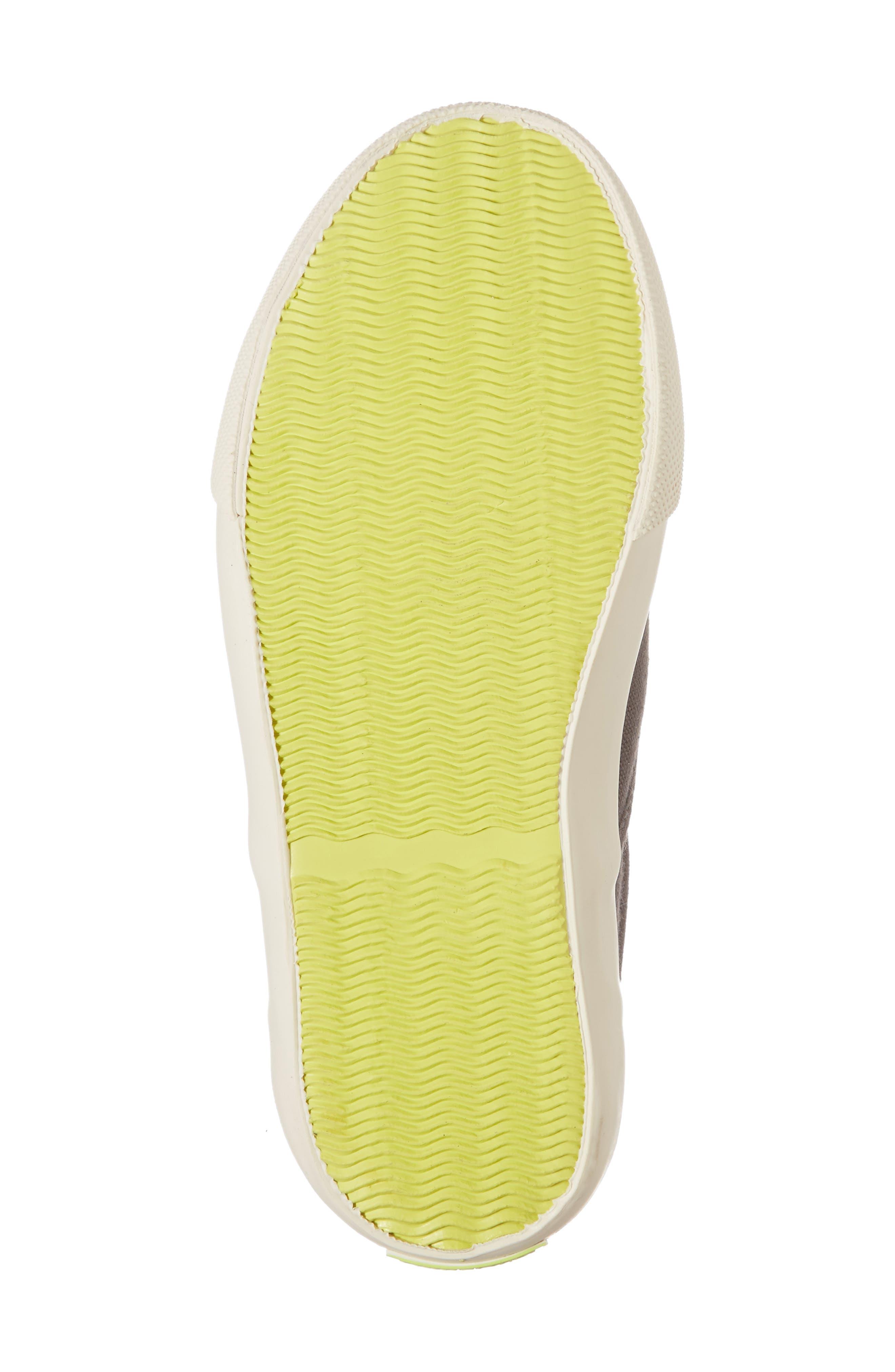 Embroidered Slip-On Sneaker,                             Alternate thumbnail 6, color,                             SHARK GREY