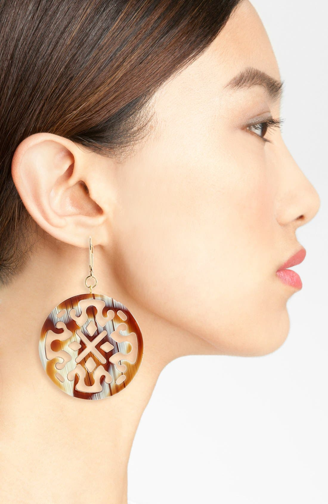 Medallion Filigree Drop Earrings,                             Alternate thumbnail 8, color,