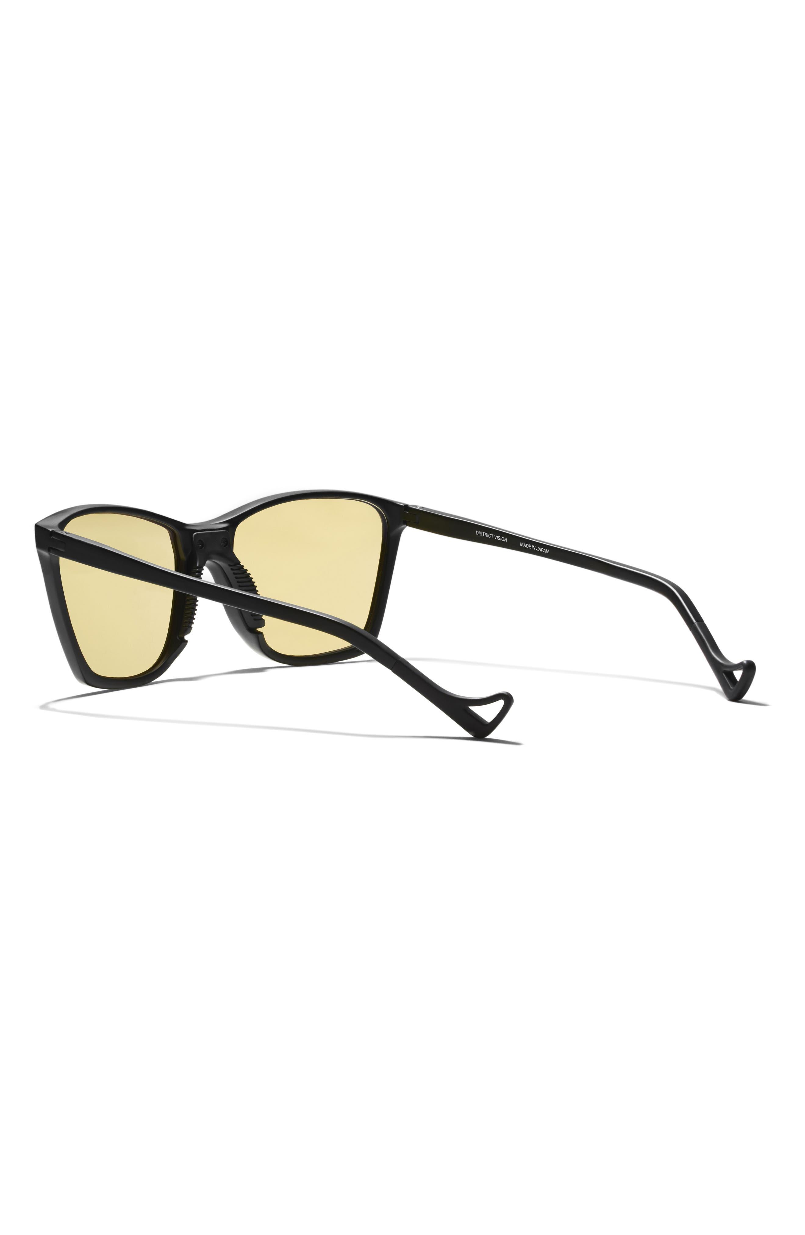 Keiichi Standard 55mm Sunglasses,                             Alternate thumbnail 3, color,                             BLACK/ YELLOW