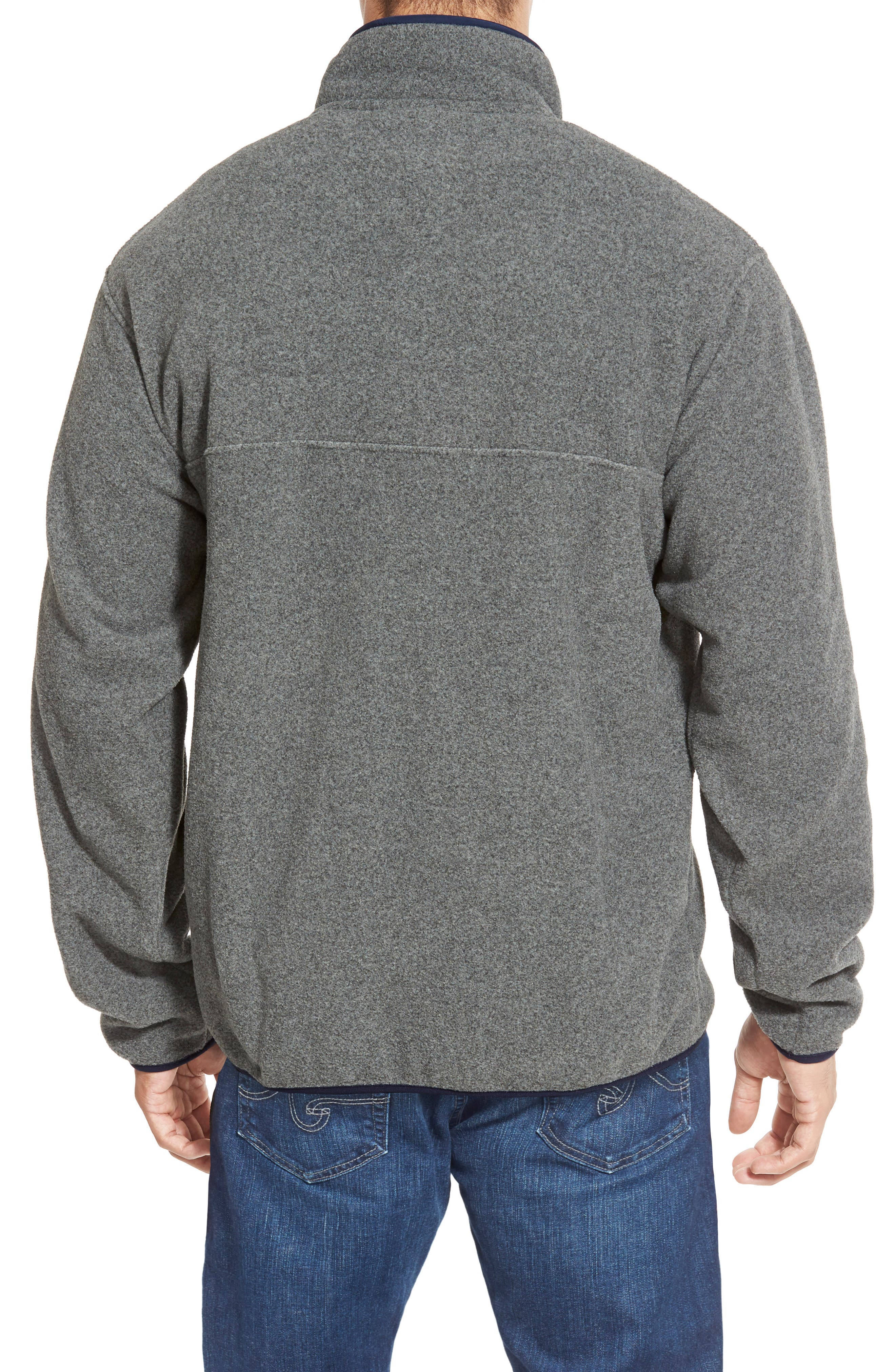 Synchilla<sup>®</sup> Snap-T<sup>®</sup> Fleece Pullover,                             Alternate thumbnail 4, color,                             NICKEL/ NAVY BLUE