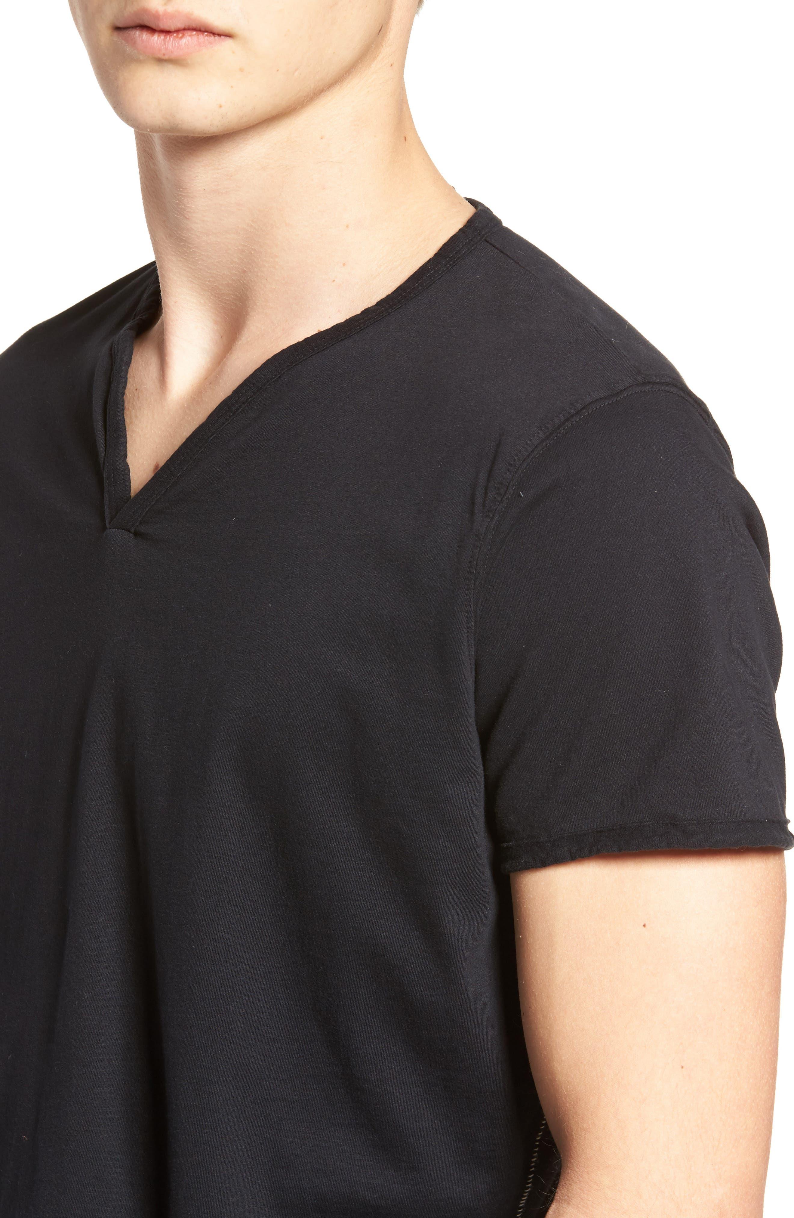 Notch Henley T-Shirt,                             Alternate thumbnail 4, color,                             001