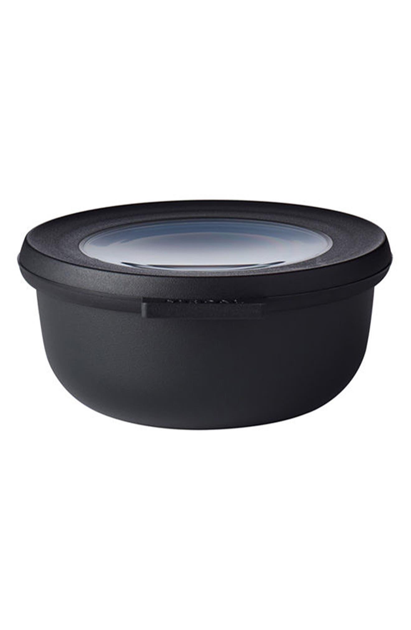 Cirqula Set of 4 Storage Bowls,                             Alternate thumbnail 5, color,                             BLACK