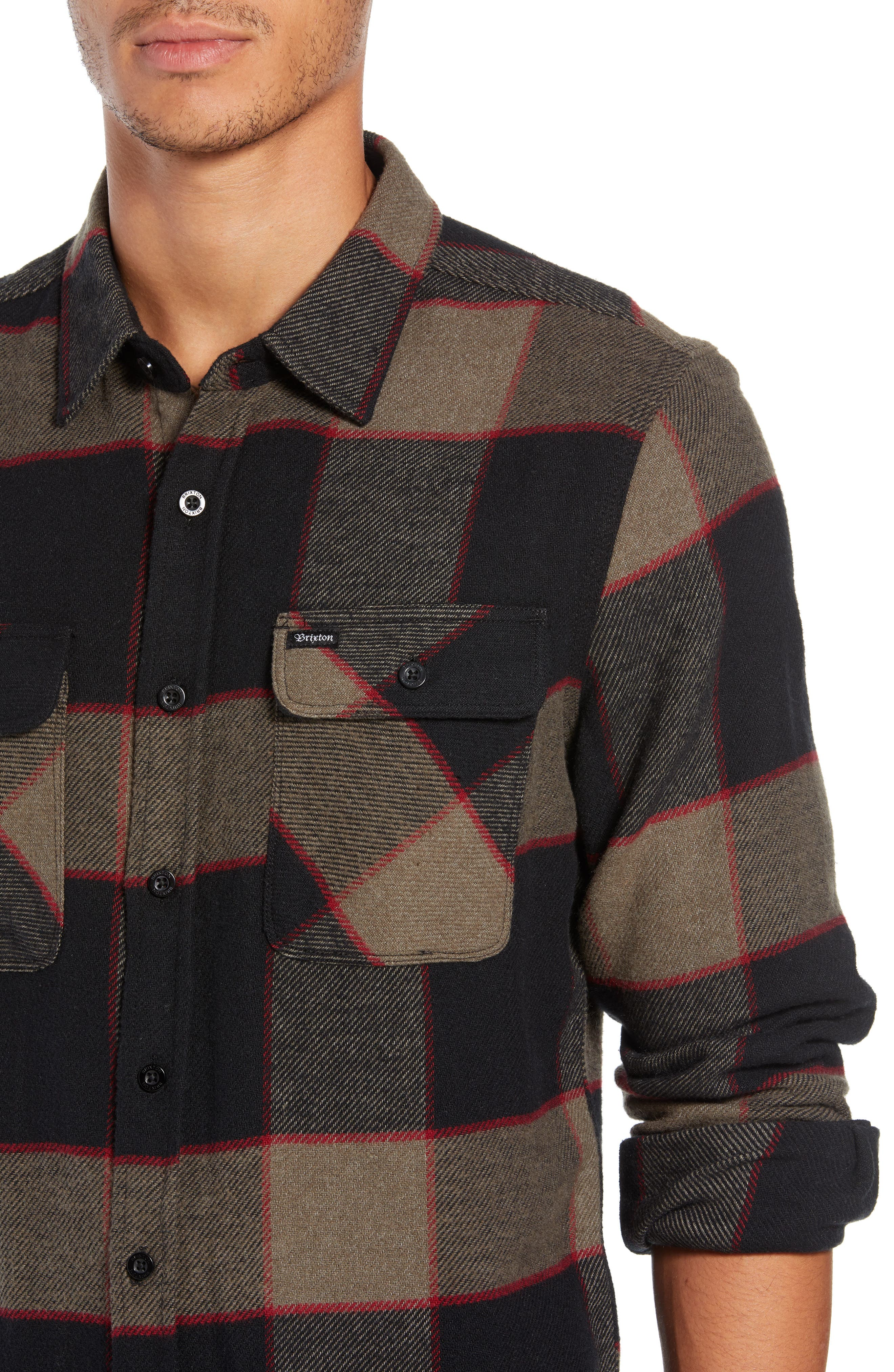 Bowery Flannel Shirt,                             Alternate thumbnail 17, color,