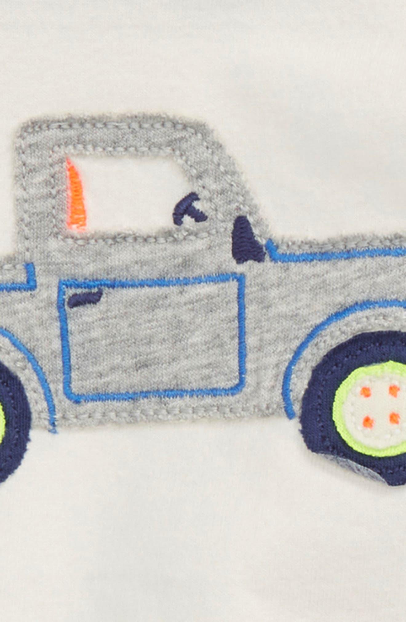 Fun Truck Appliqué T-Shirt & Shorts Set,                             Alternate thumbnail 2, color,