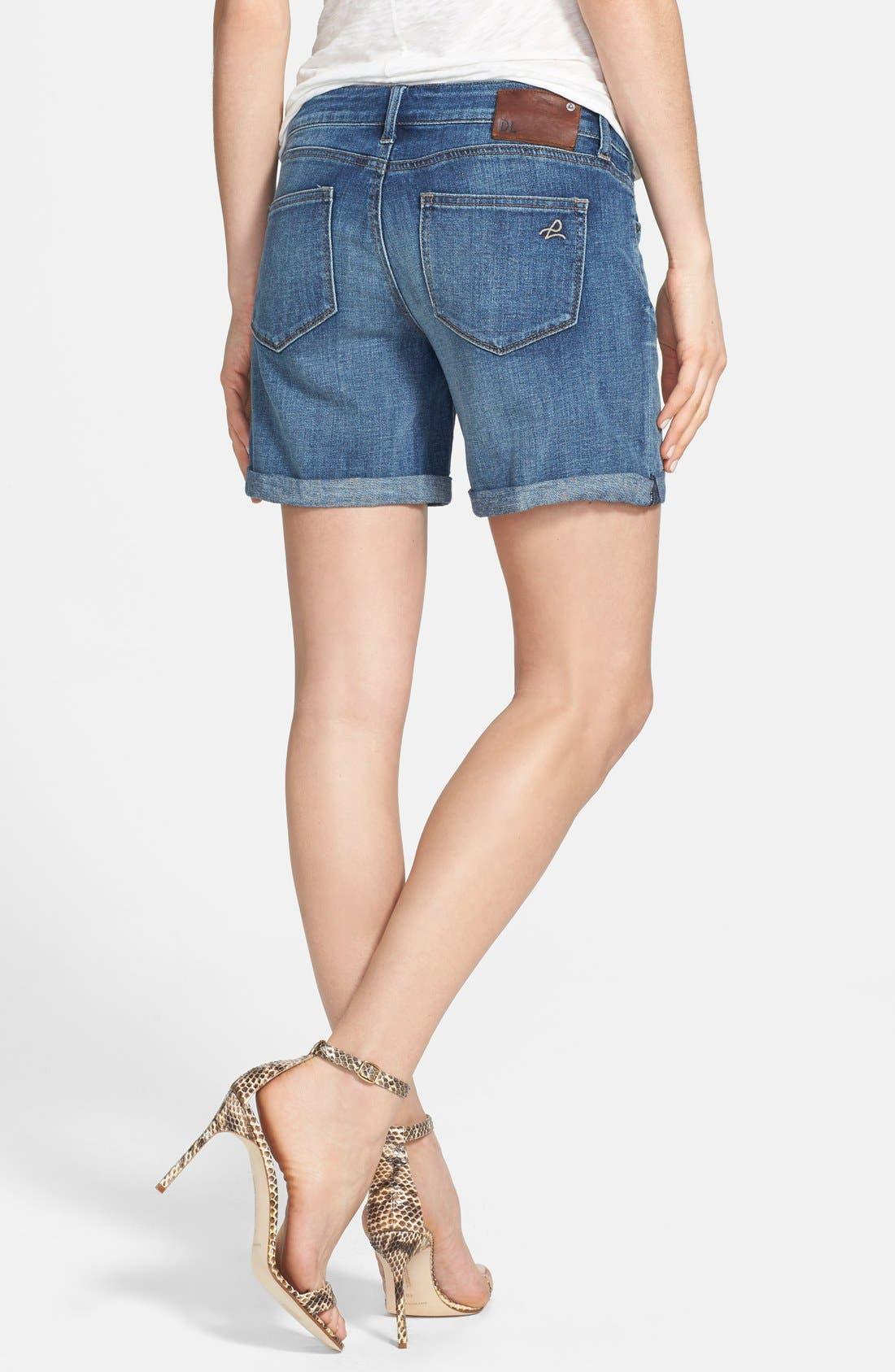 'Karlie' Boyfriend Denim Shorts,                             Alternate thumbnail 3, color,                             405