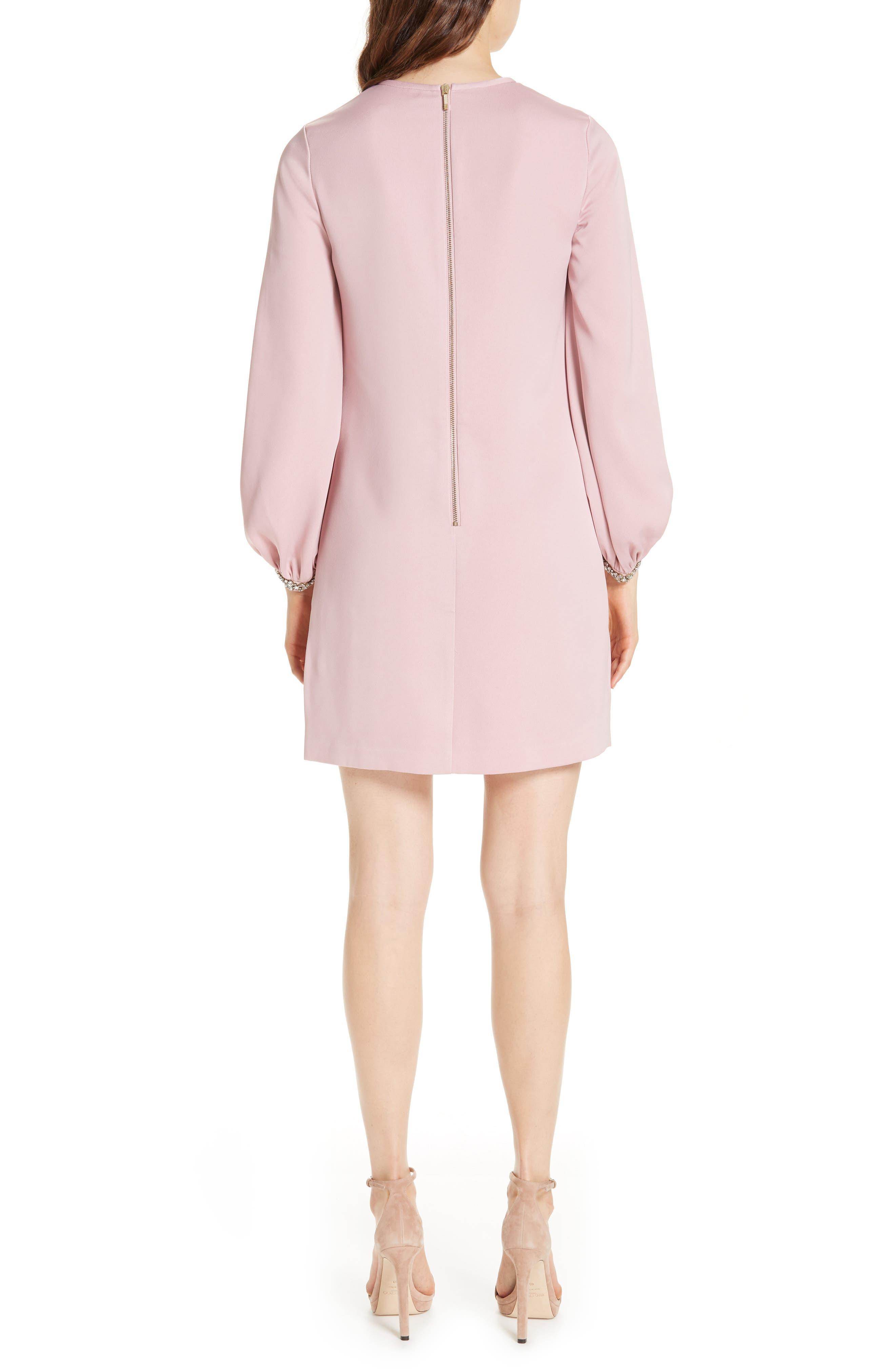 Joele Embellished Cuff Shift Dress,                             Alternate thumbnail 2, color,                             DUSKY PINK