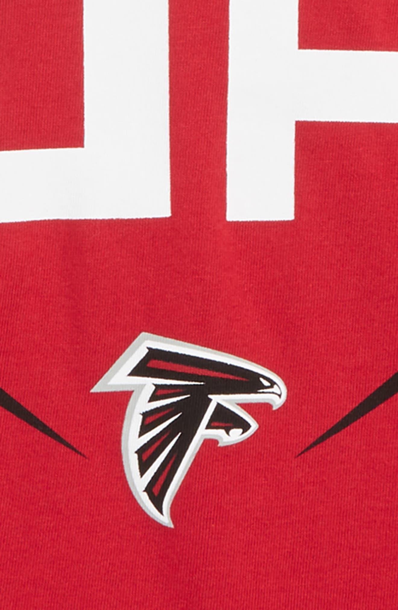 Dry Hyperlocal NFL Atlanta Falcons T-Shirt,                             Alternate thumbnail 2, color,                             RED
