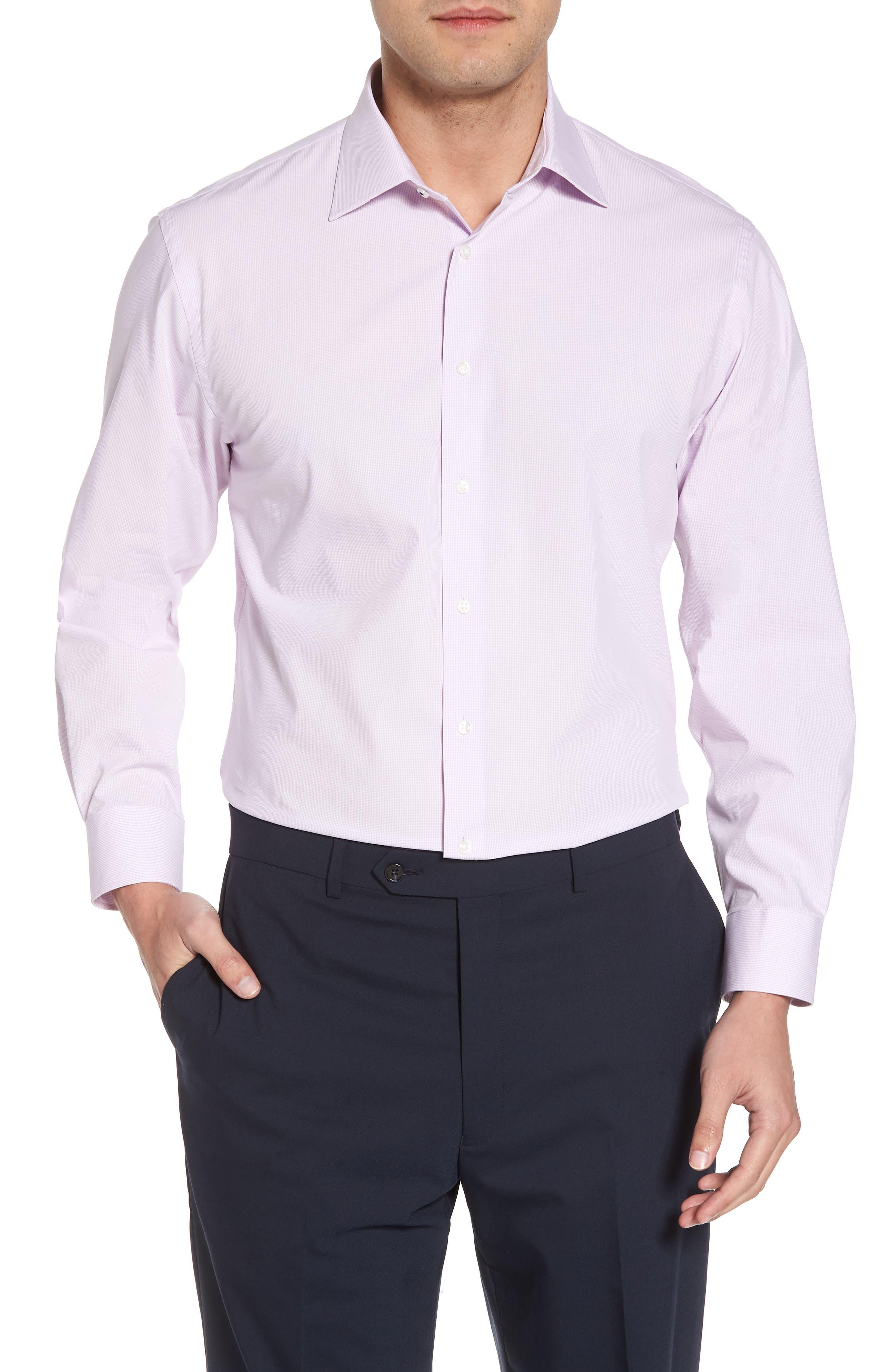 Tech-Smart Traditional Fit Stretch Microdot Dress Shirt,                             Main thumbnail 2, color,