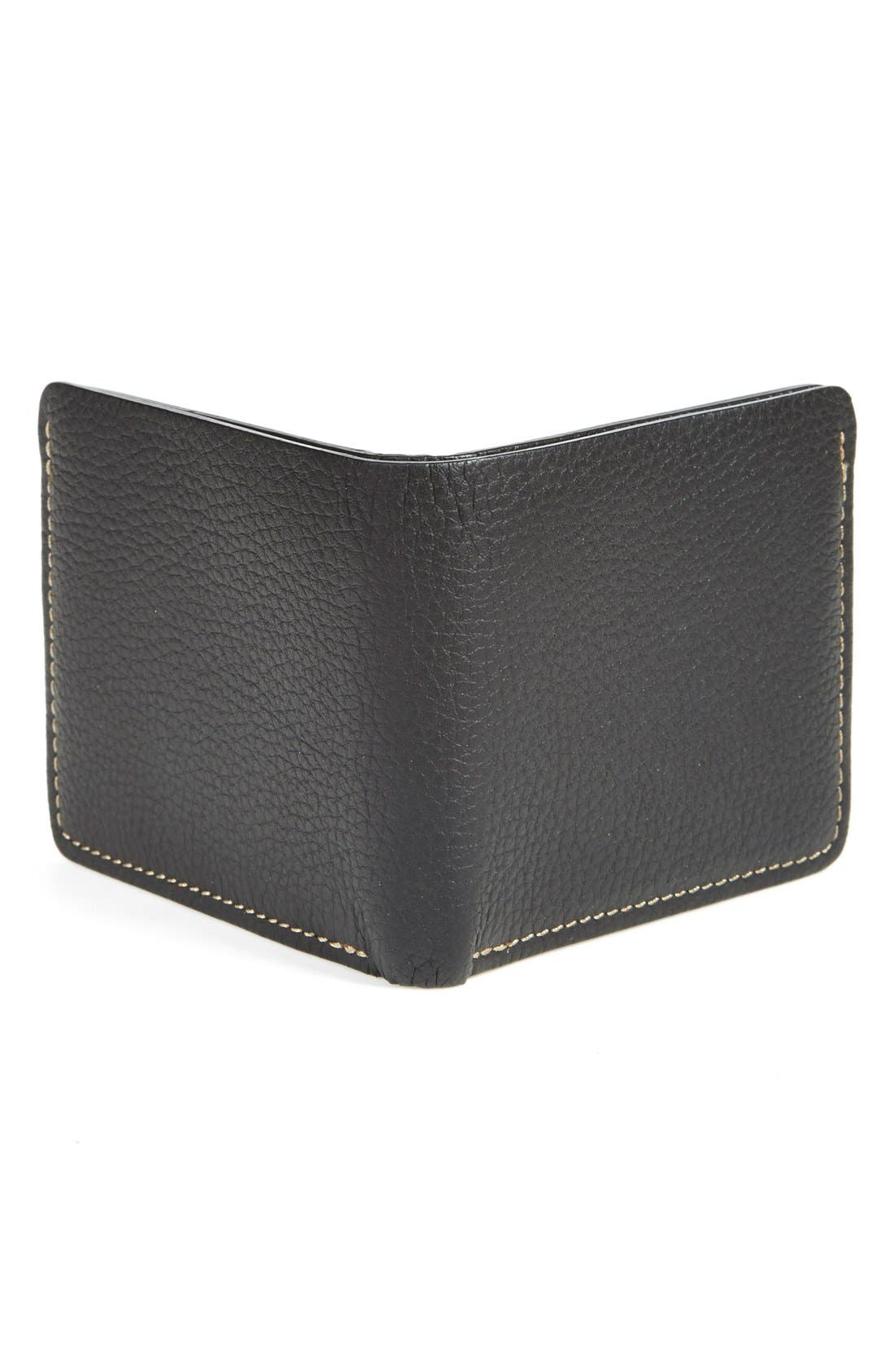 'Jackson' Bison Leather Wallet,                             Alternate thumbnail 8, color,