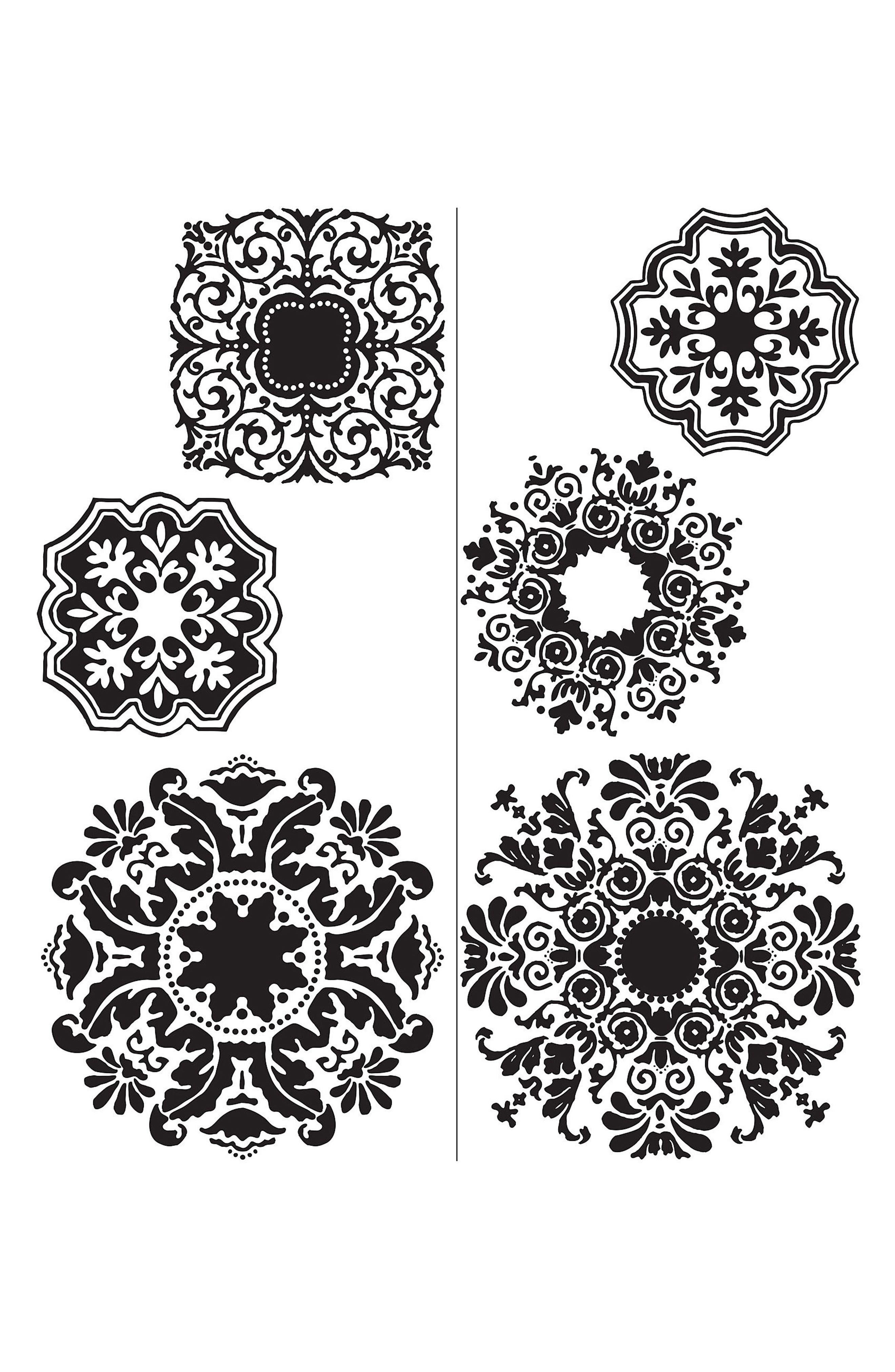 Baroque 6-Piece Wall Art Decal Set,                             Alternate thumbnail 3, color,