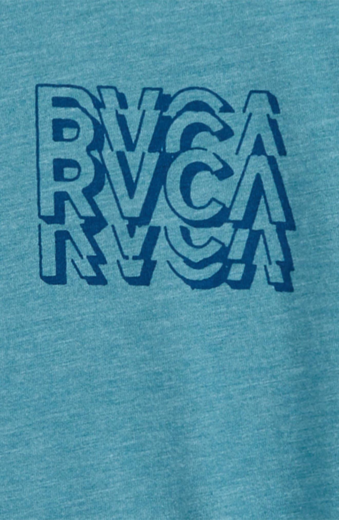 RVCA,                             Ripper T-Shirt,                             Alternate thumbnail 3, color,                             CASCADE BLUE