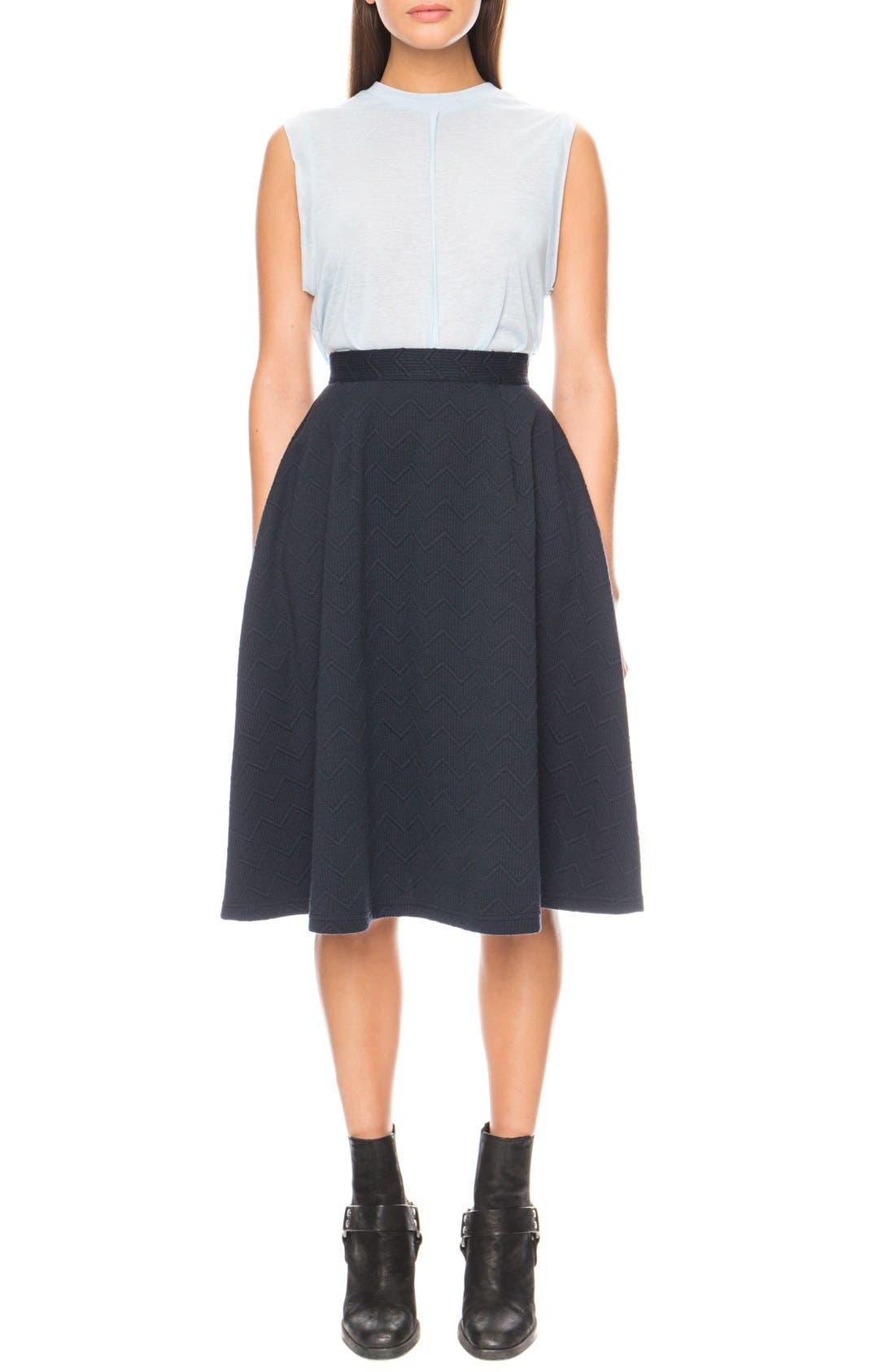 'Passport' Midi Skirt,                             Main thumbnail 1, color,                             400