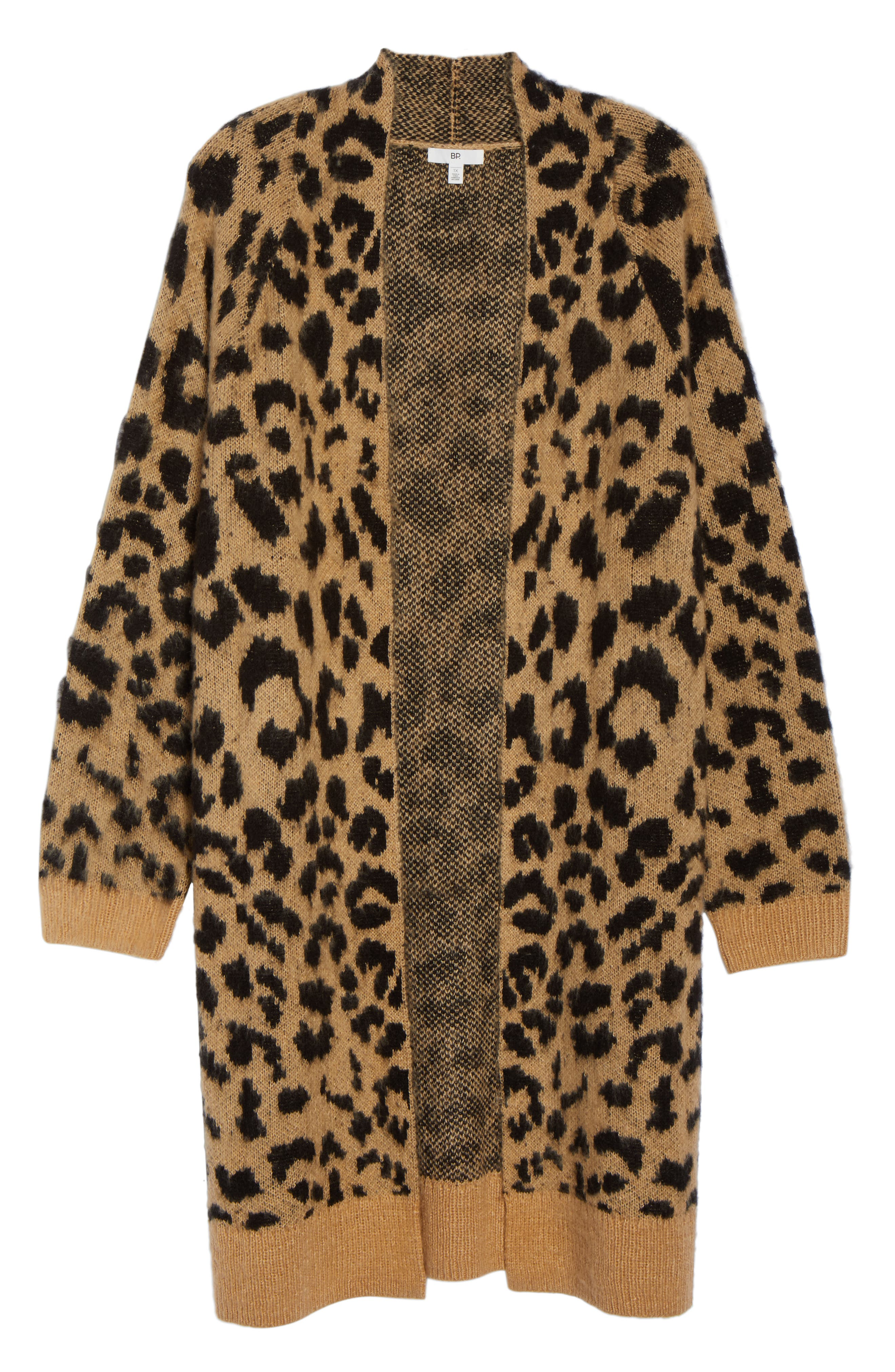 Long Leopard Jacquard Cardigan,                             Alternate thumbnail 11, color,                             260