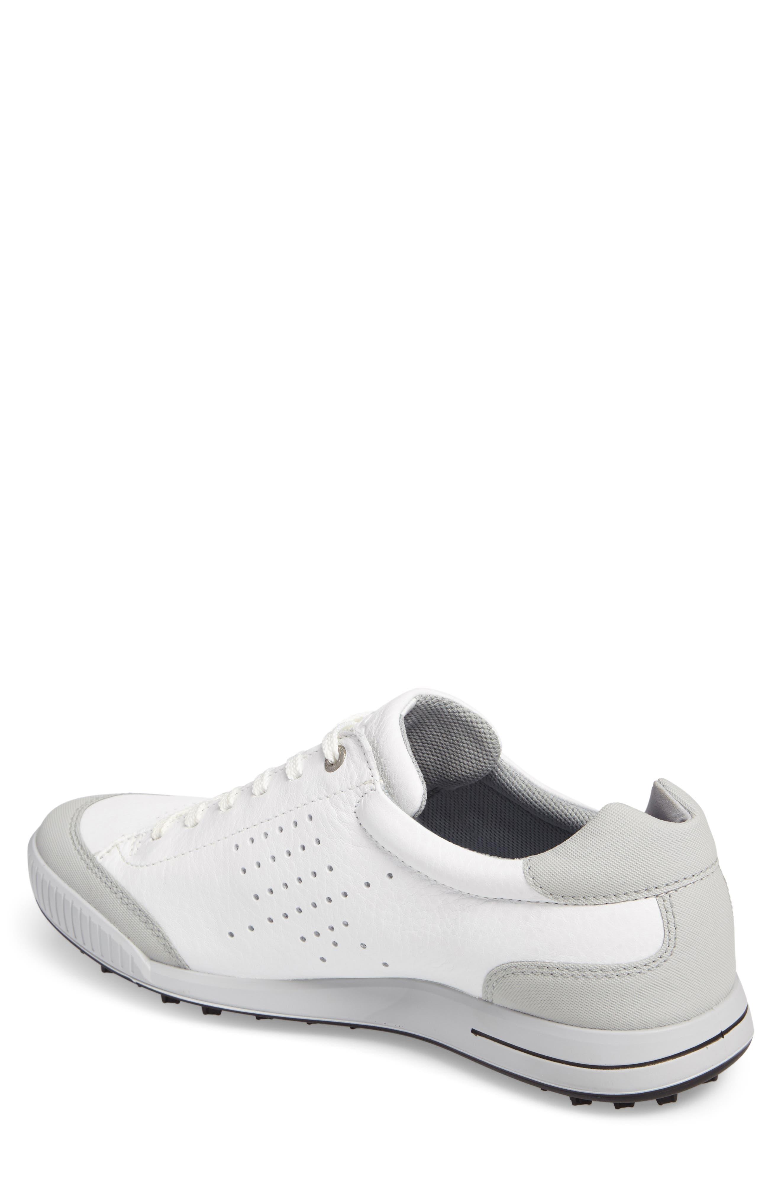 ECCO,                             Street Retro HM Golf Shoe,                             Alternate thumbnail 2, color,                             WHITE/ CONCRETE