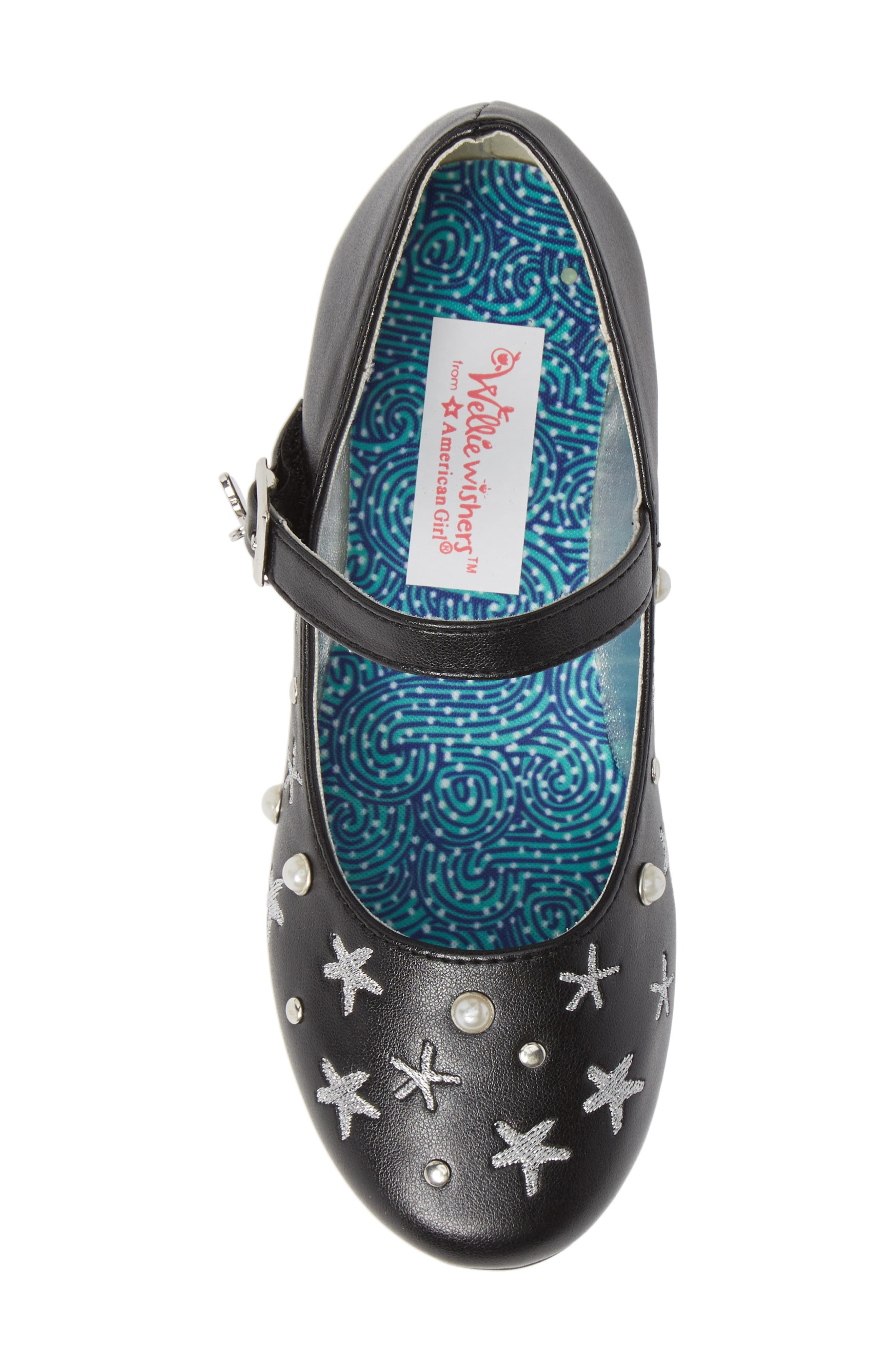 Camille Embellished Ballet Flat,                             Alternate thumbnail 5, color,                             001