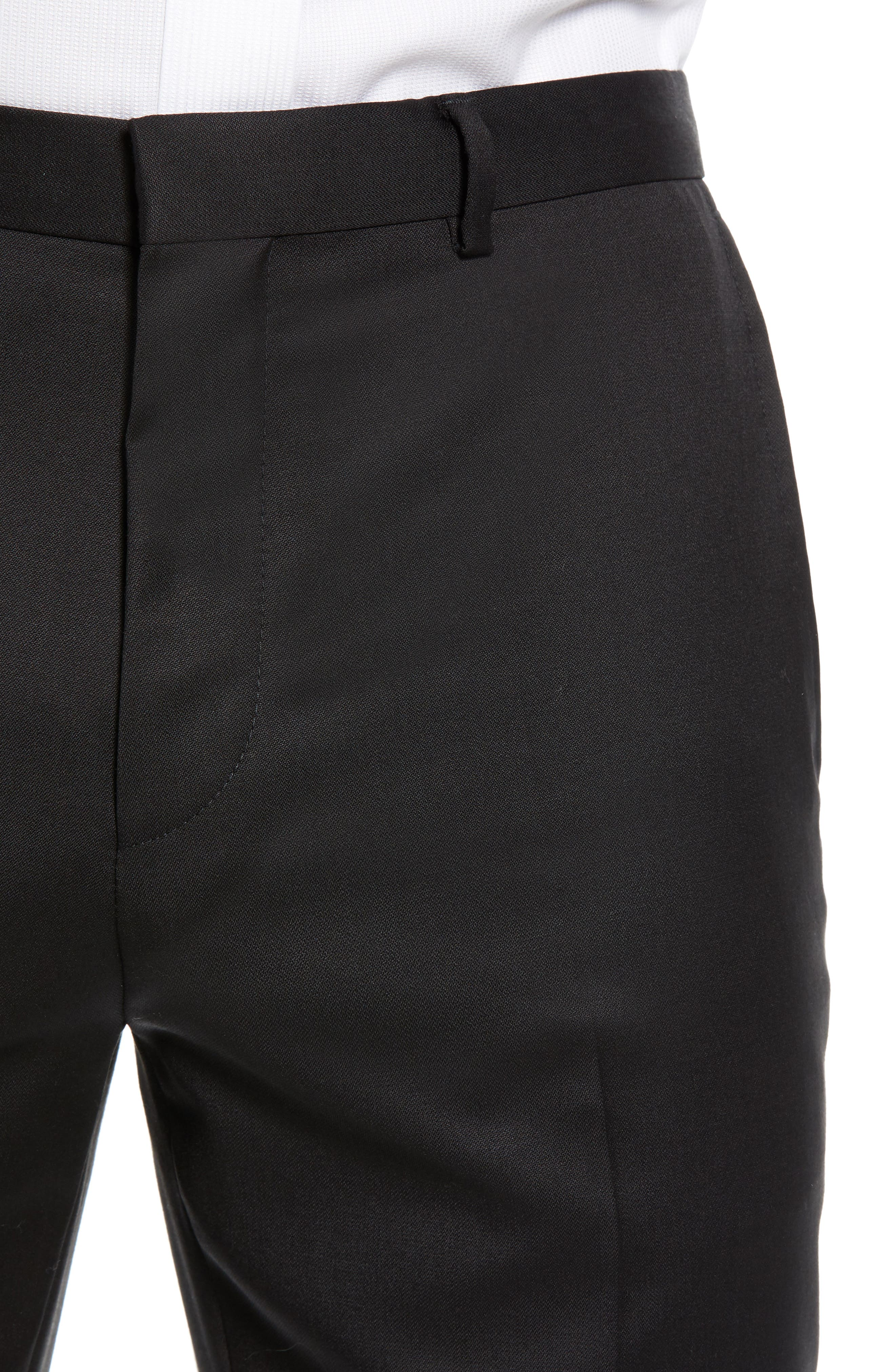Hartley Extra Slim Trousers,                             Alternate thumbnail 4, color,                             BLACK