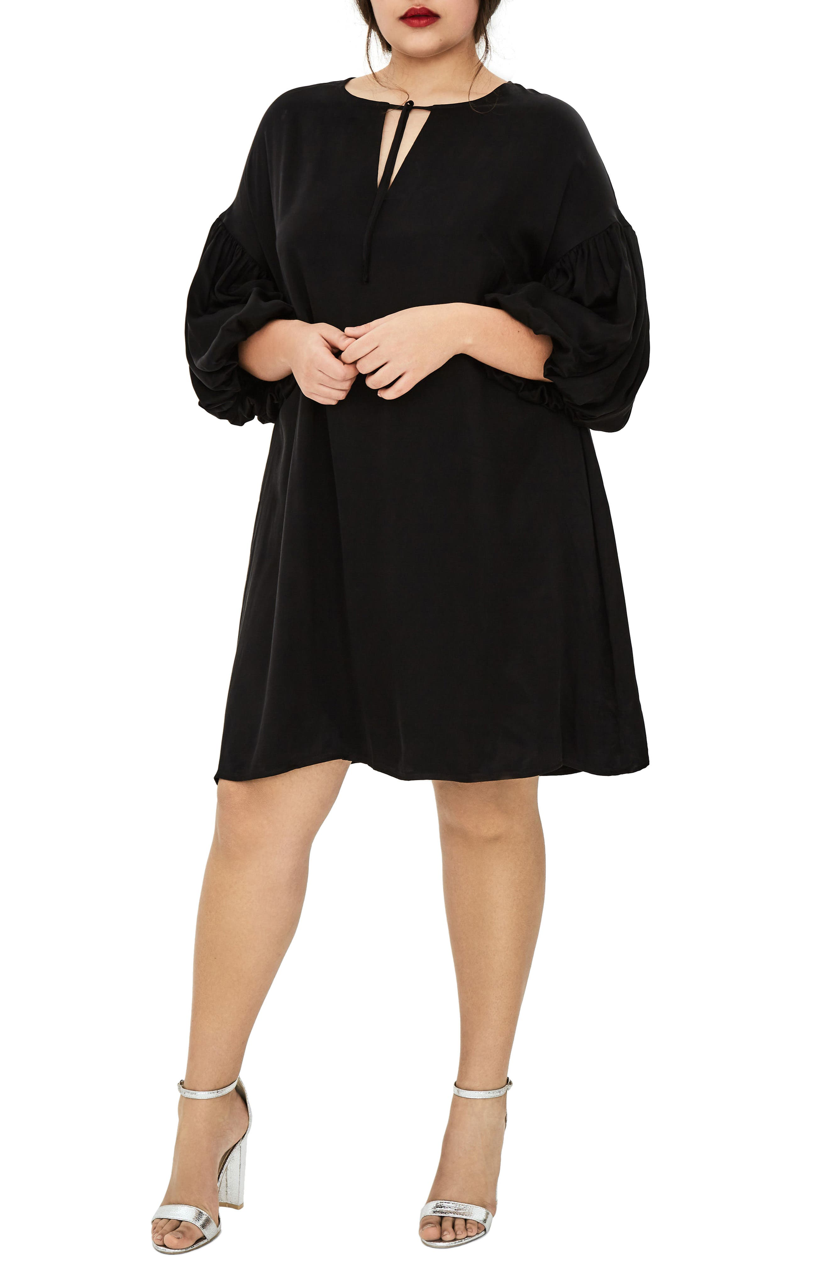 The Vedere Silk Swing Dress,                             Main thumbnail 1, color,                             001