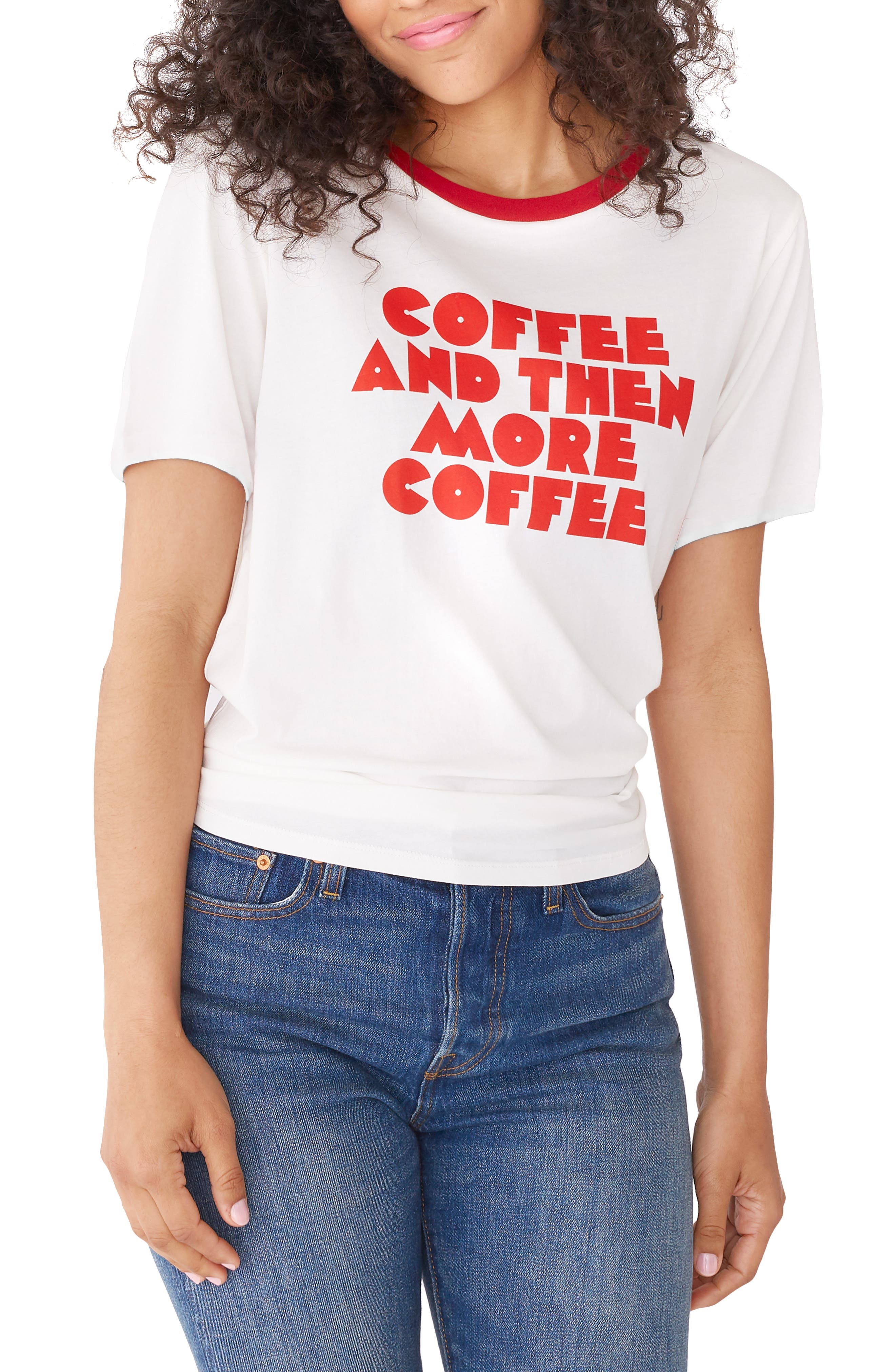 BAN.DO Ban. Do Coffee & More Coffee Ringer Tee in Ivory